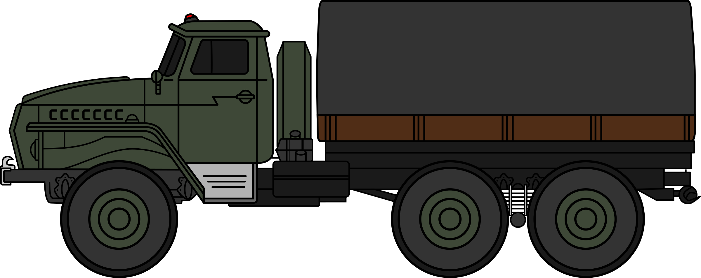 Ural-4320 military truck (coloured) by derkommander0916