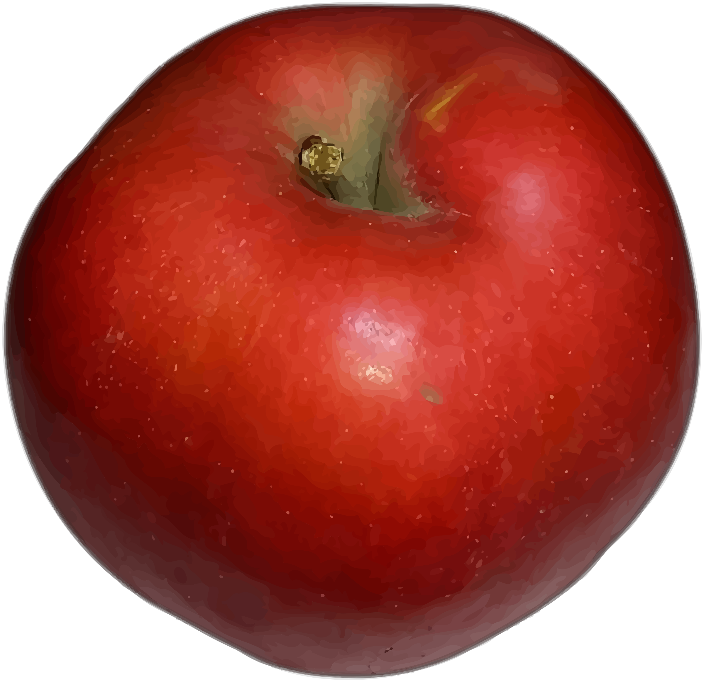 Red apple (higher detail) by Firkin
