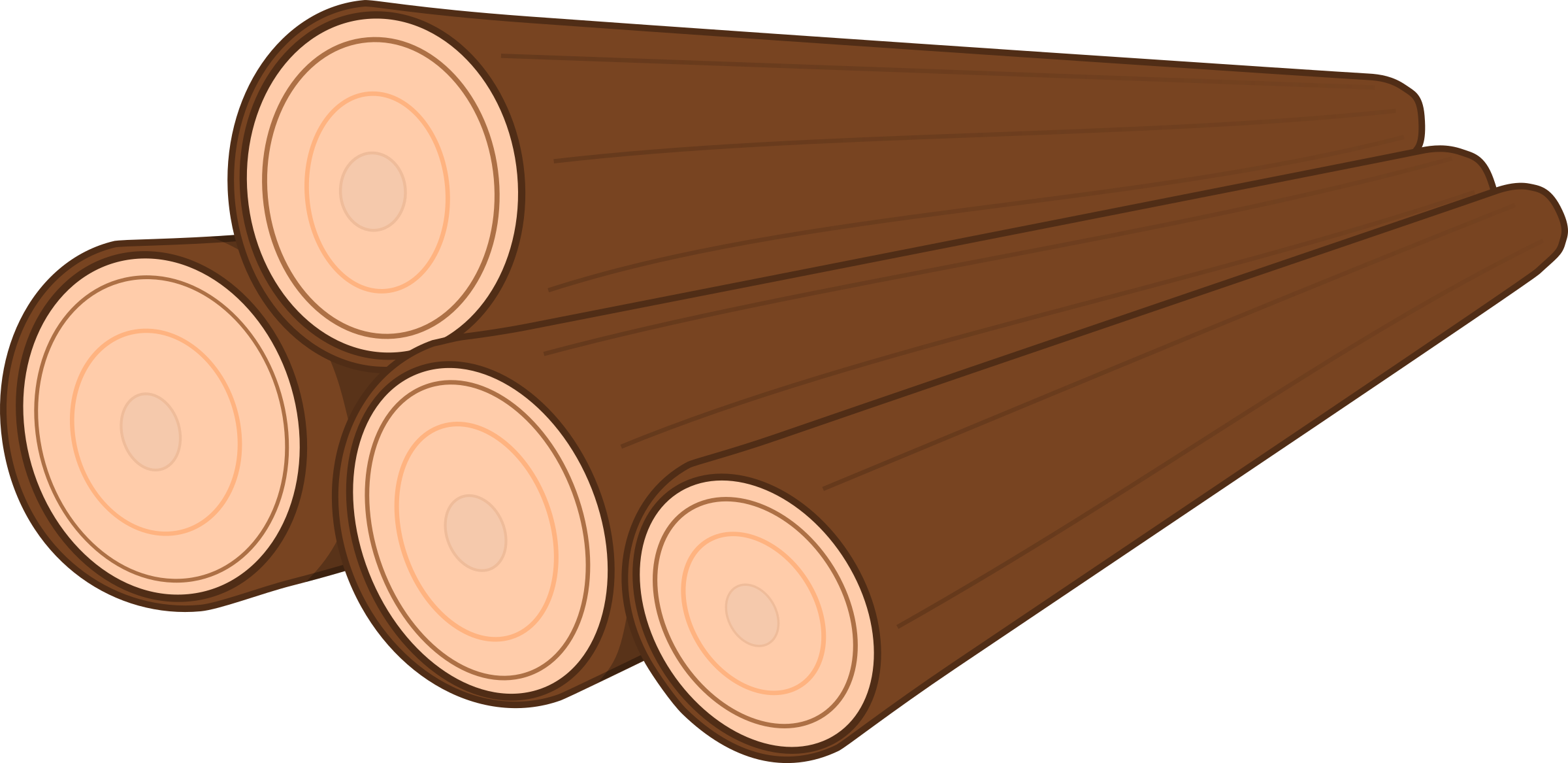 Clipart a pile of logs