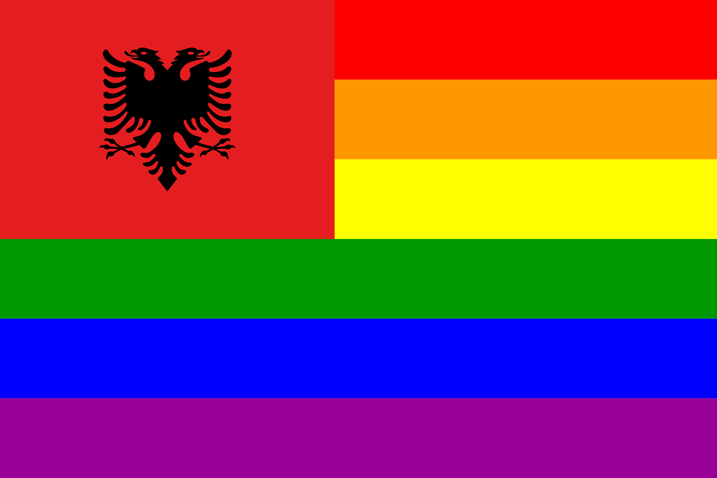 The Albania Rainbow Flag by AdamStanislav