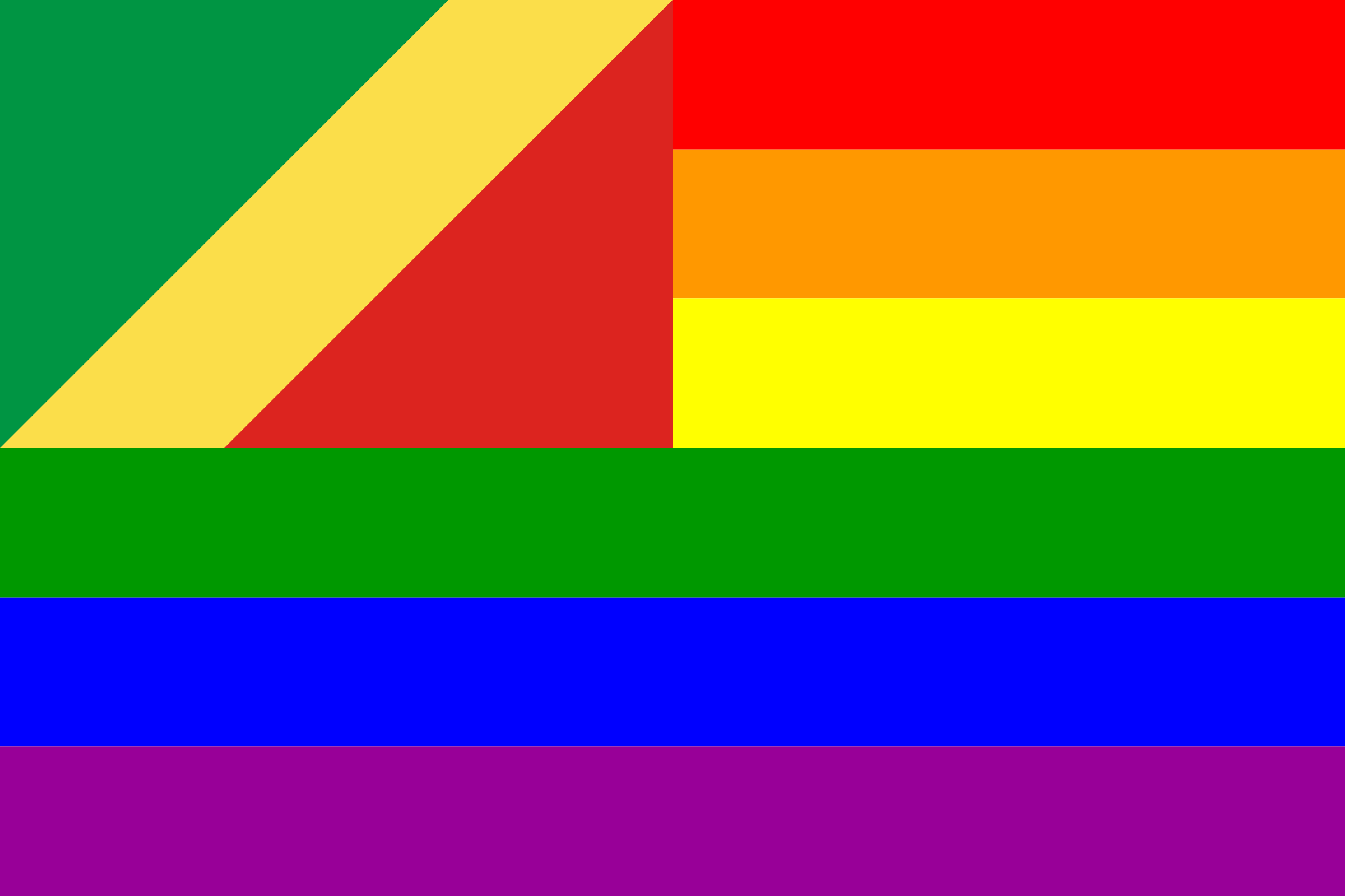 The Congo Rainbow Flag by AdamStanislav