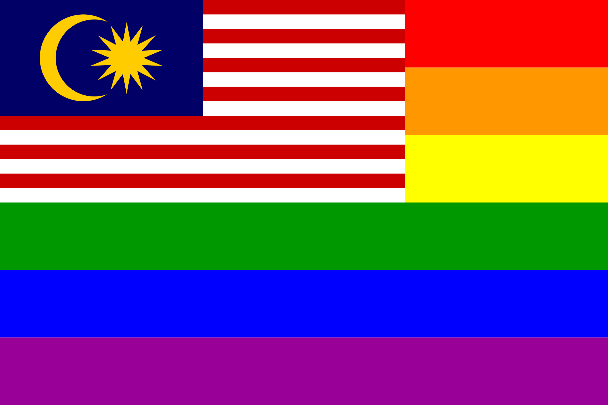 The Malaysia Rainbow Flag by AdamStanislav