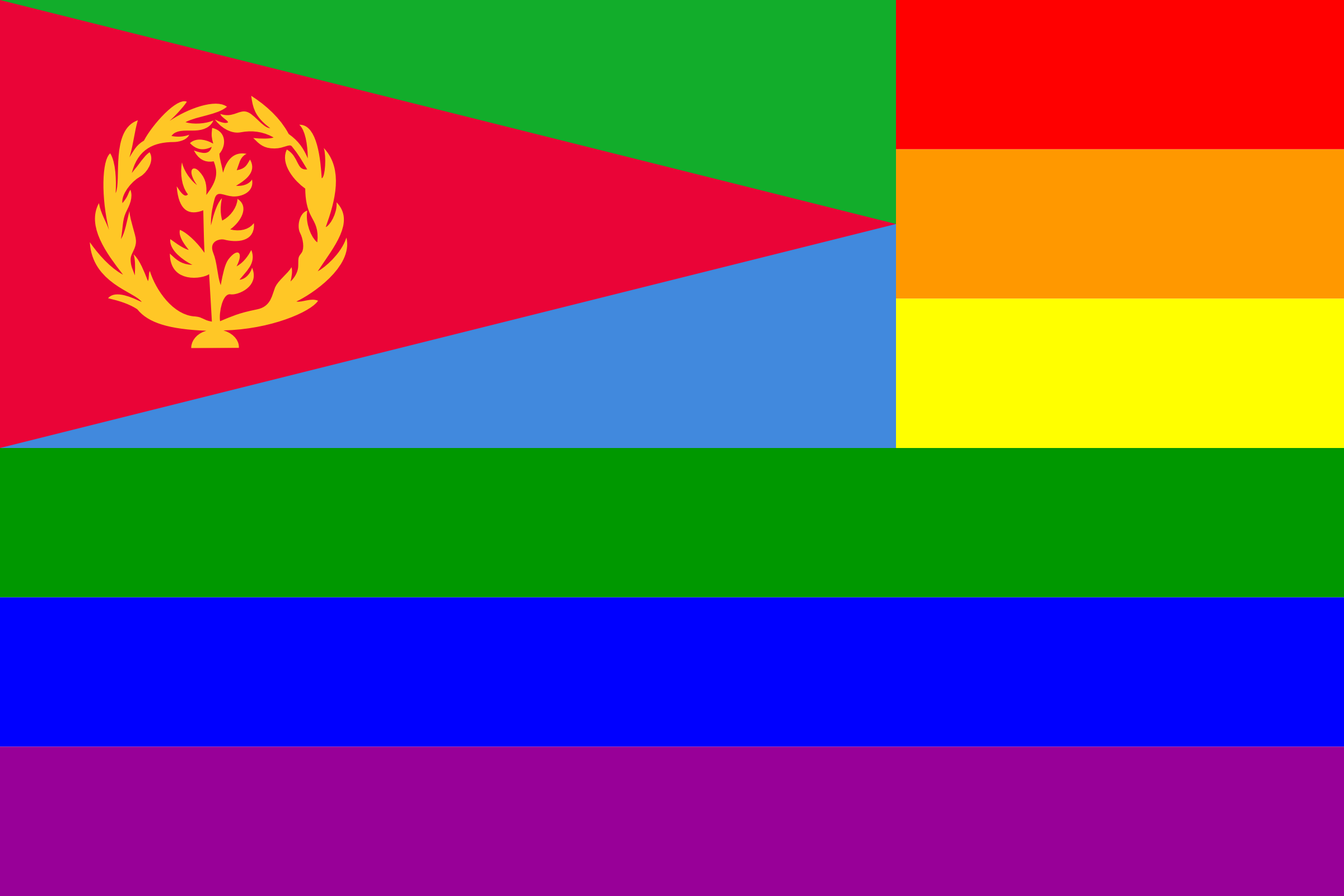 The Eritrea Rainbow Flag by AdamStanislav