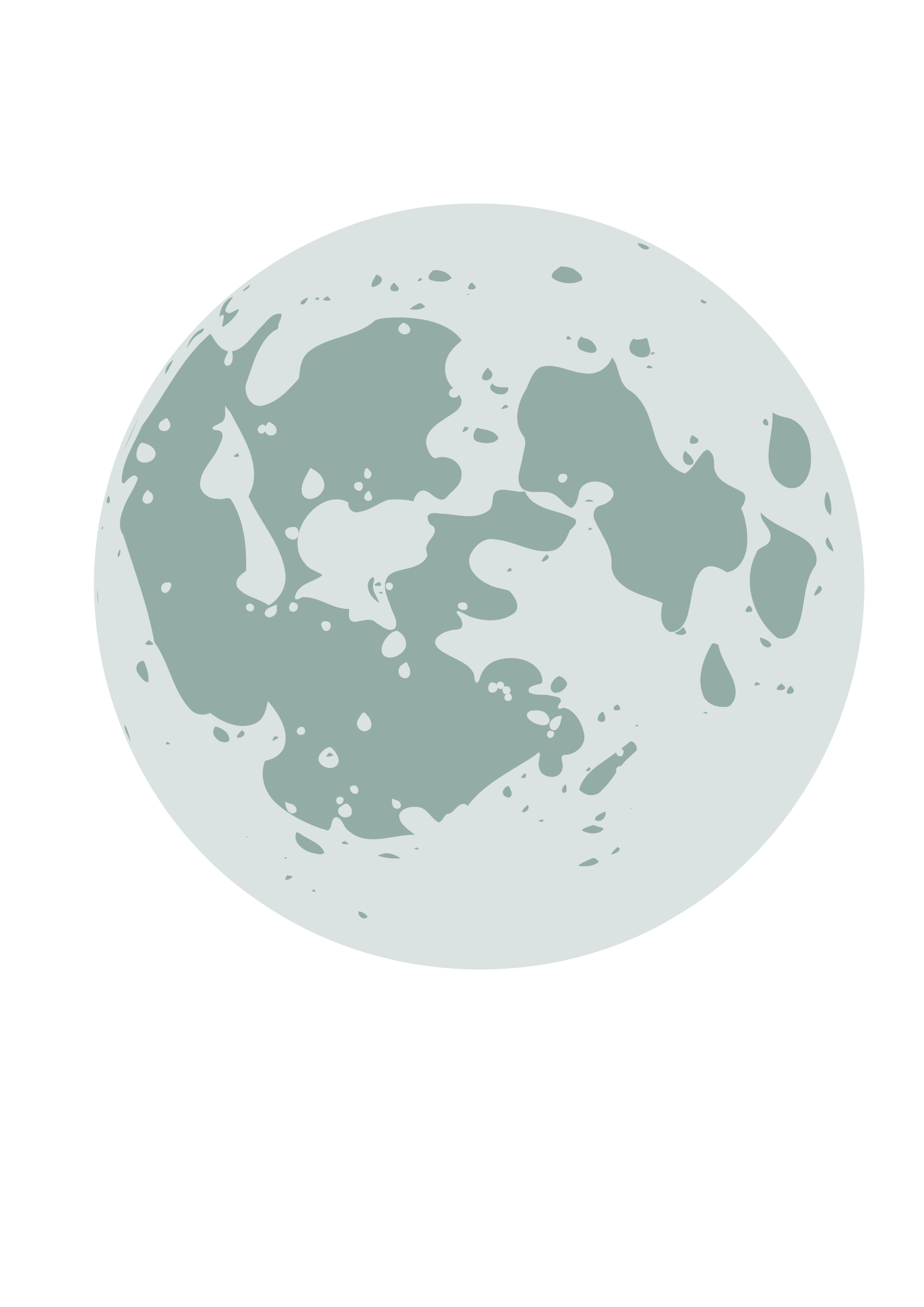 Cartoon style moon by Susa