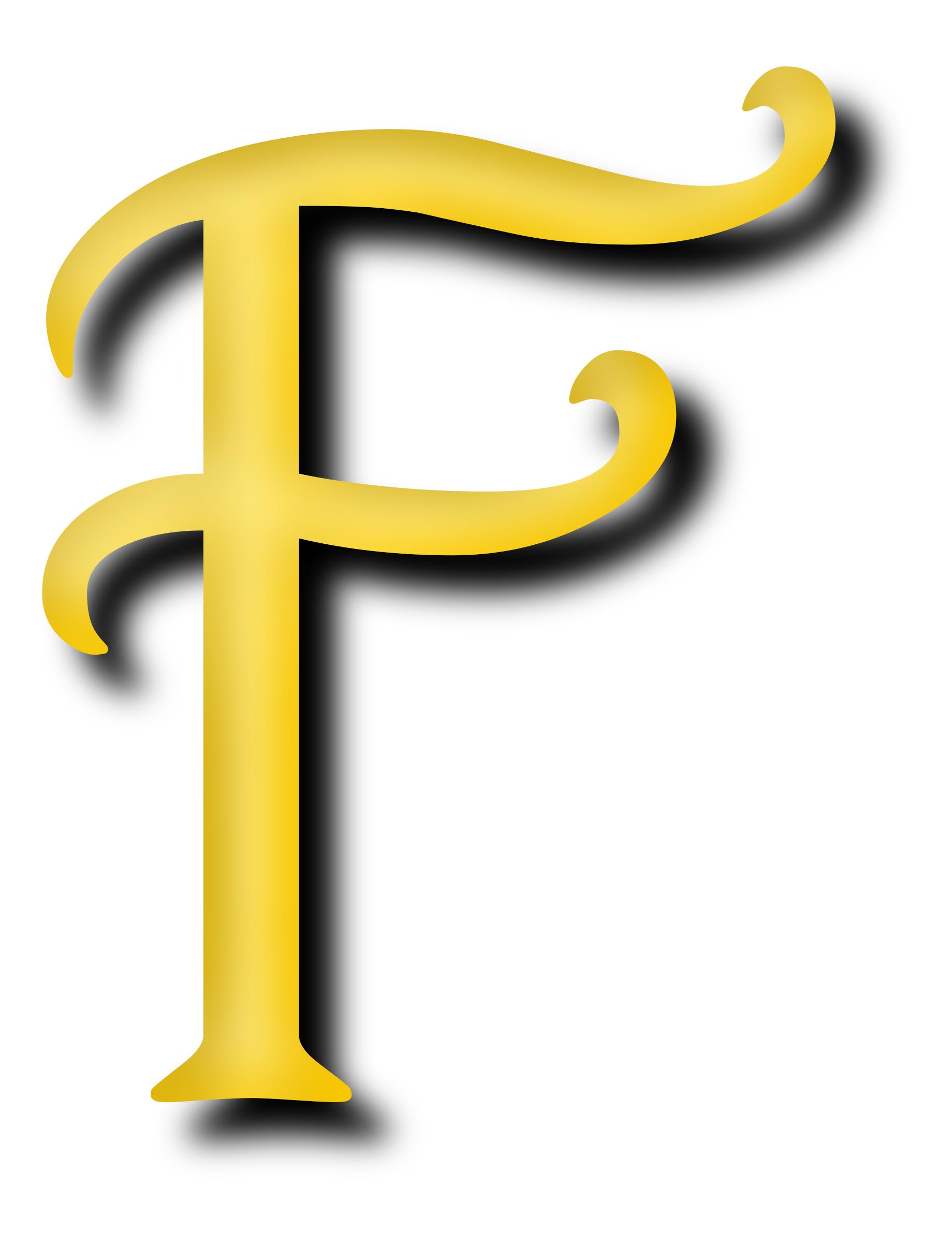 Clipart - Alphabet 13, letter F