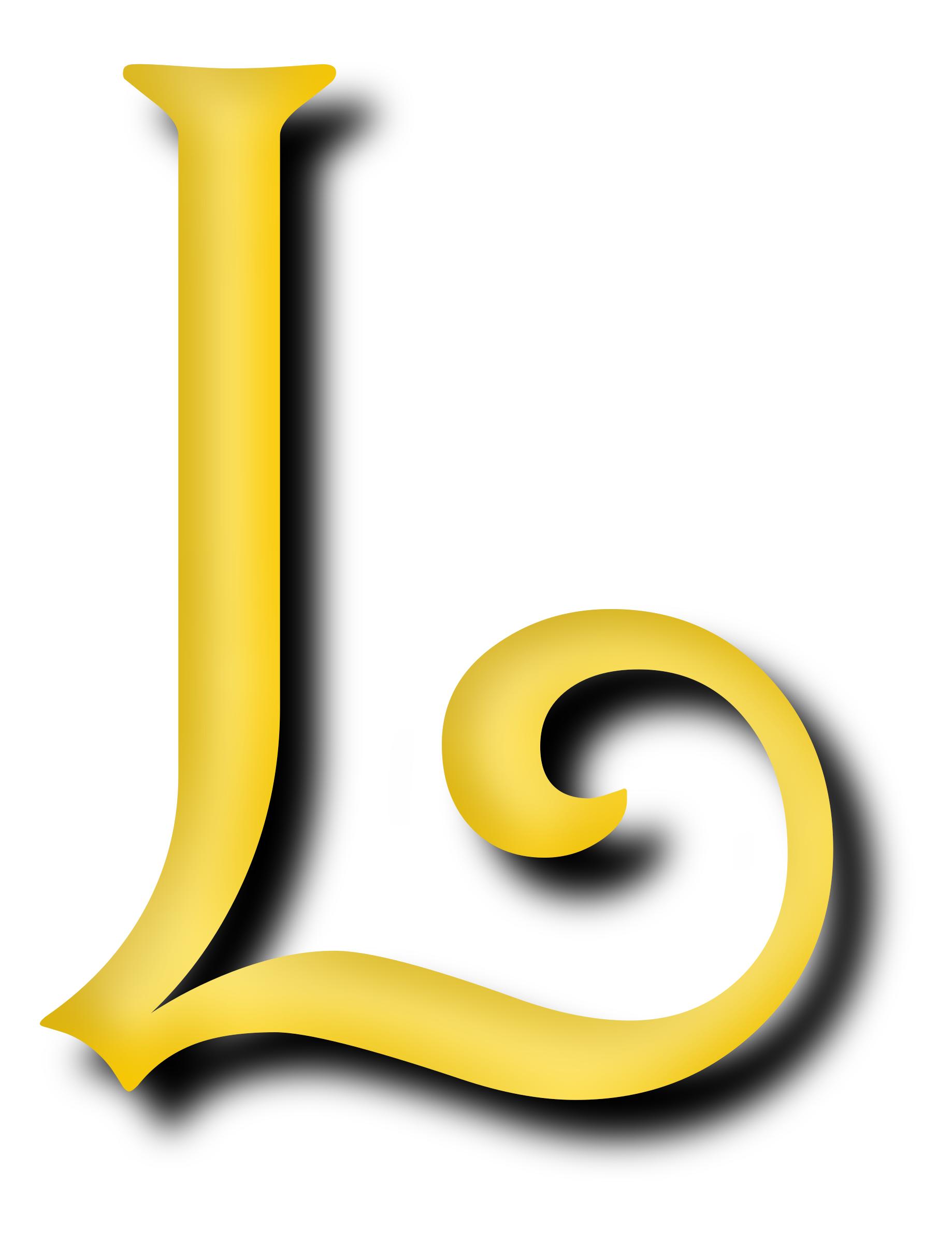 l alphabet letter - photo #40