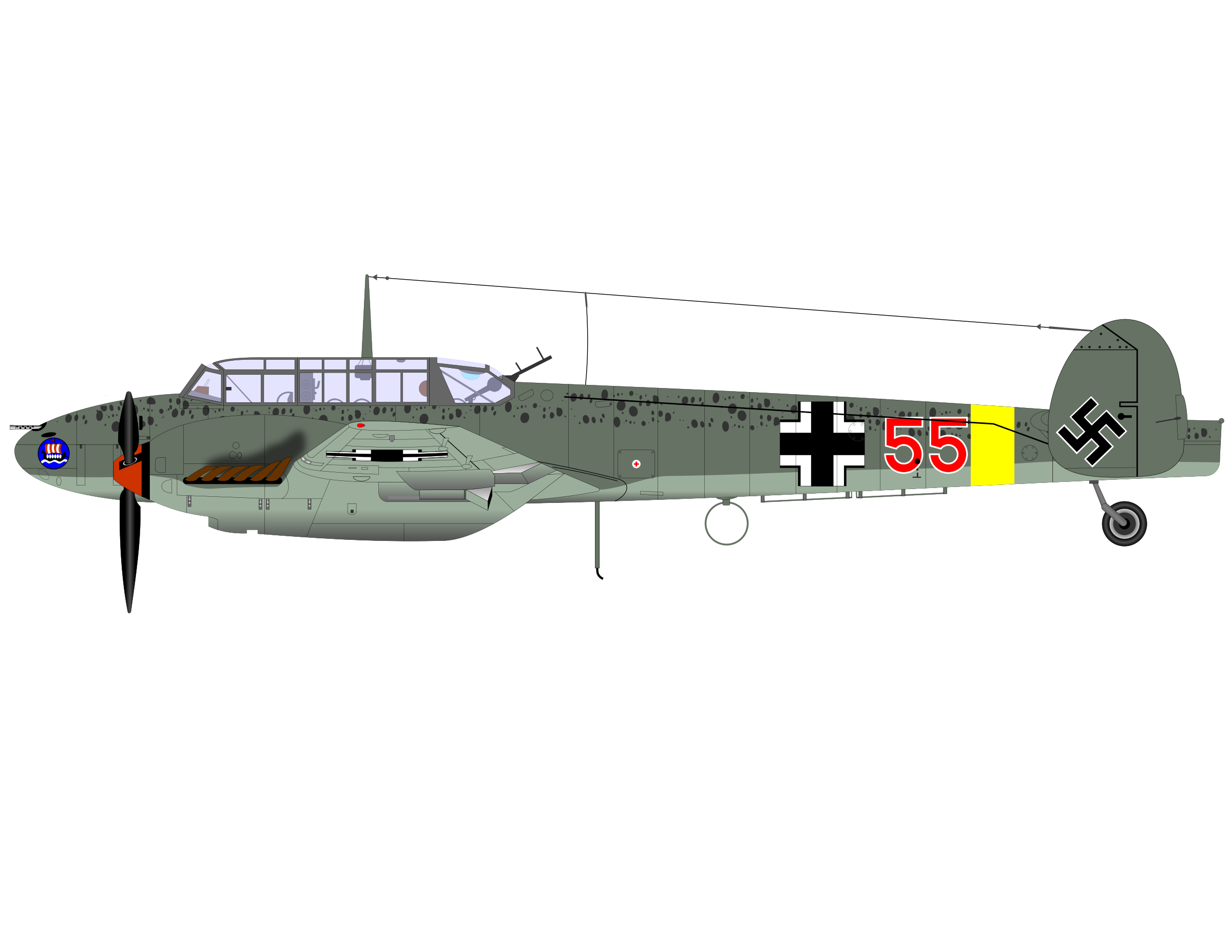 Me Bf 110 by charner1963