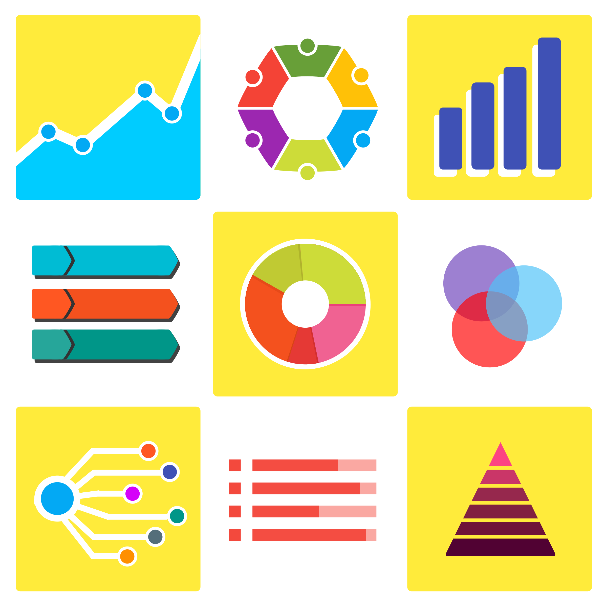 Infographic and Statistic Vector Pack by Vexagrafi