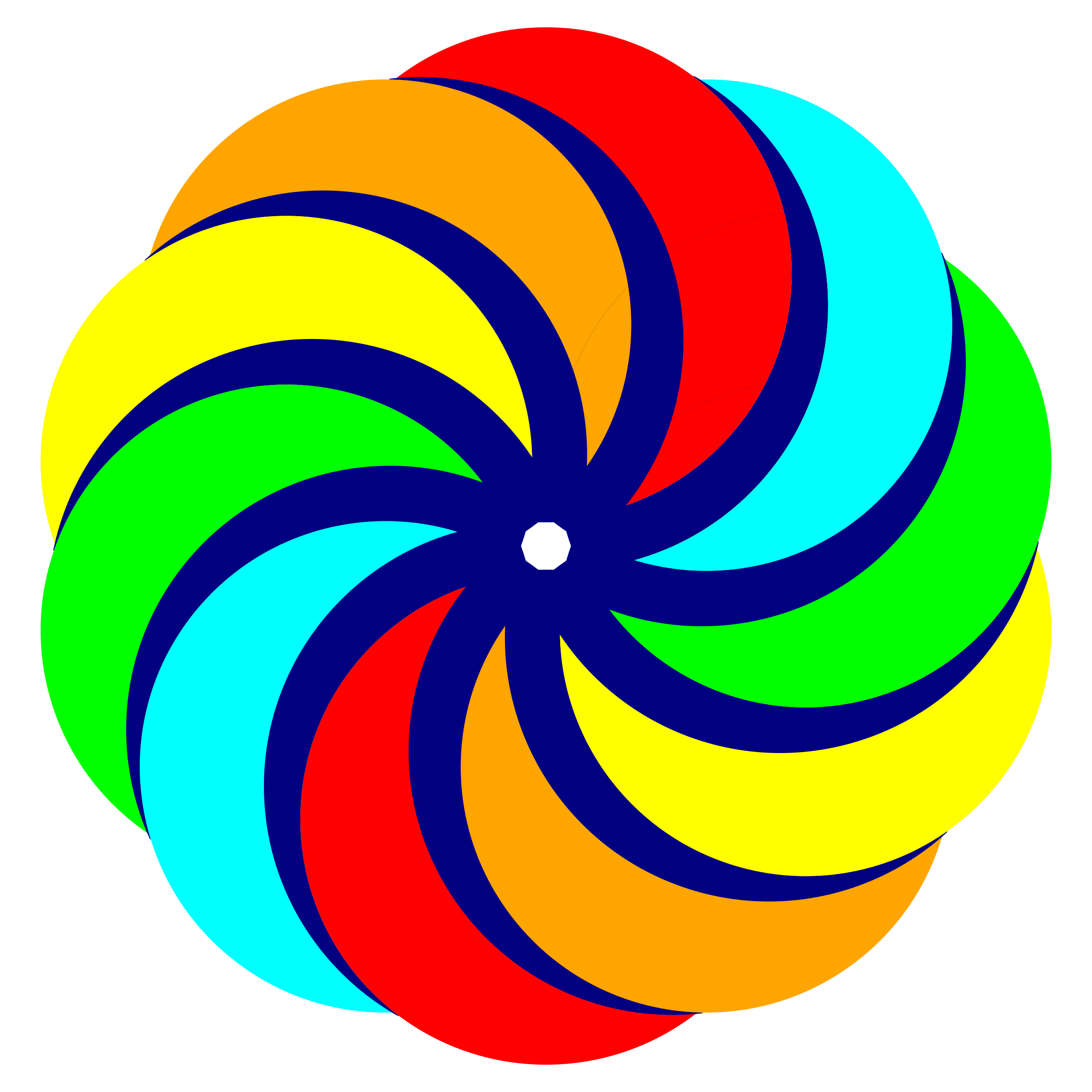 Colored Circles in Decagon shape by JayNick