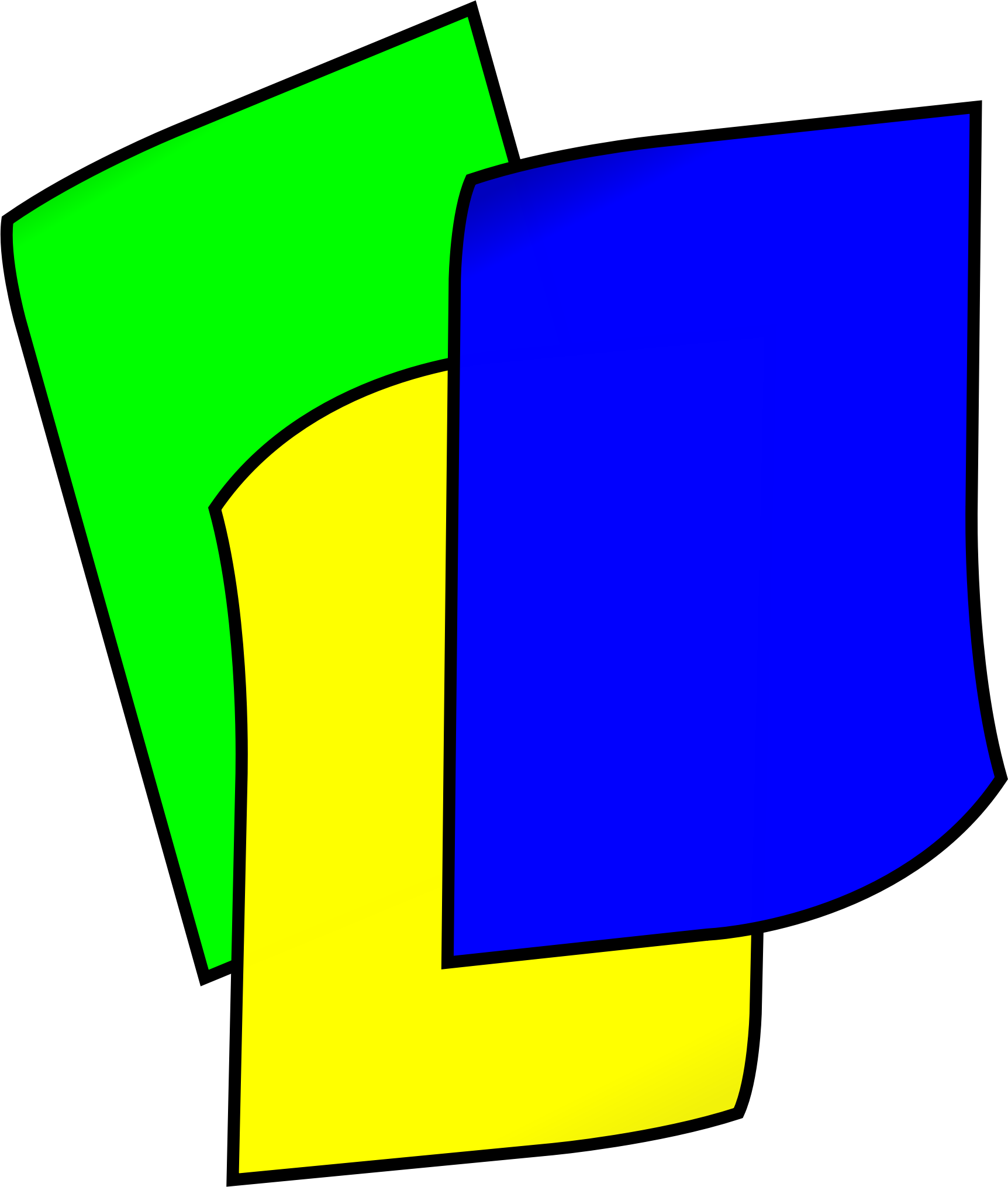 clipart - stack of colored construction paper