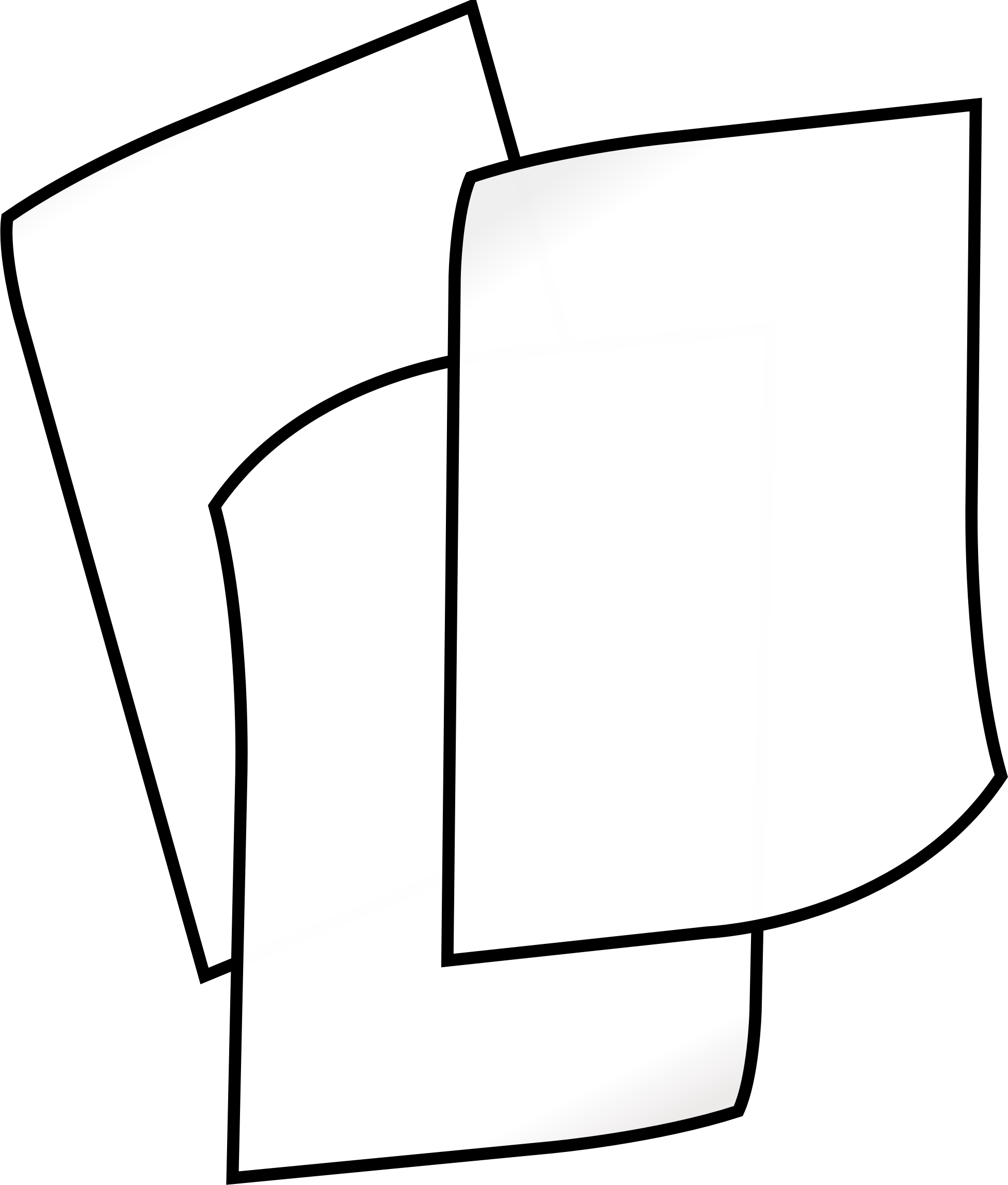 clipart stack of white paper