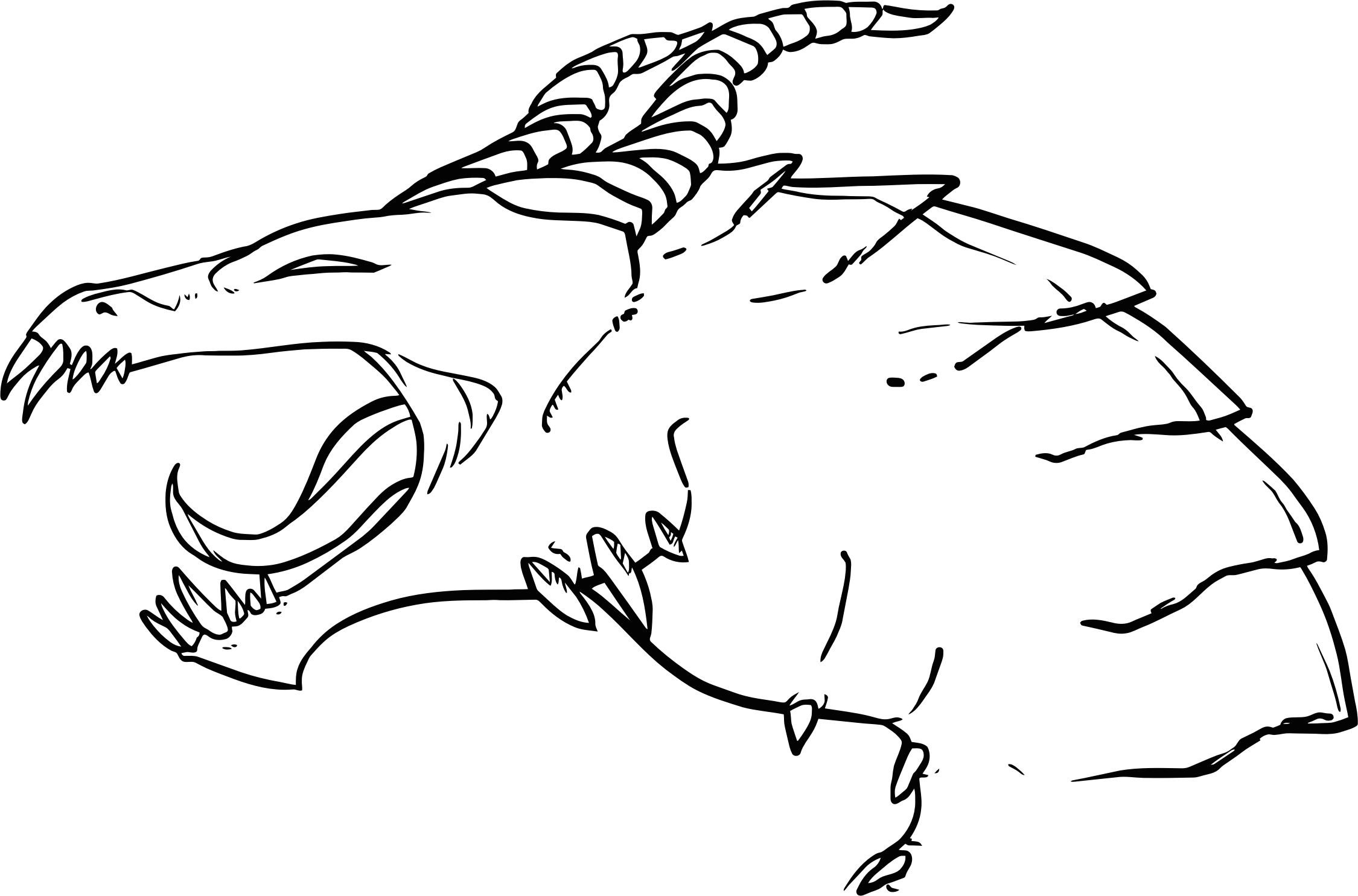 Line Drawing Dragon : Clipart dragon line art