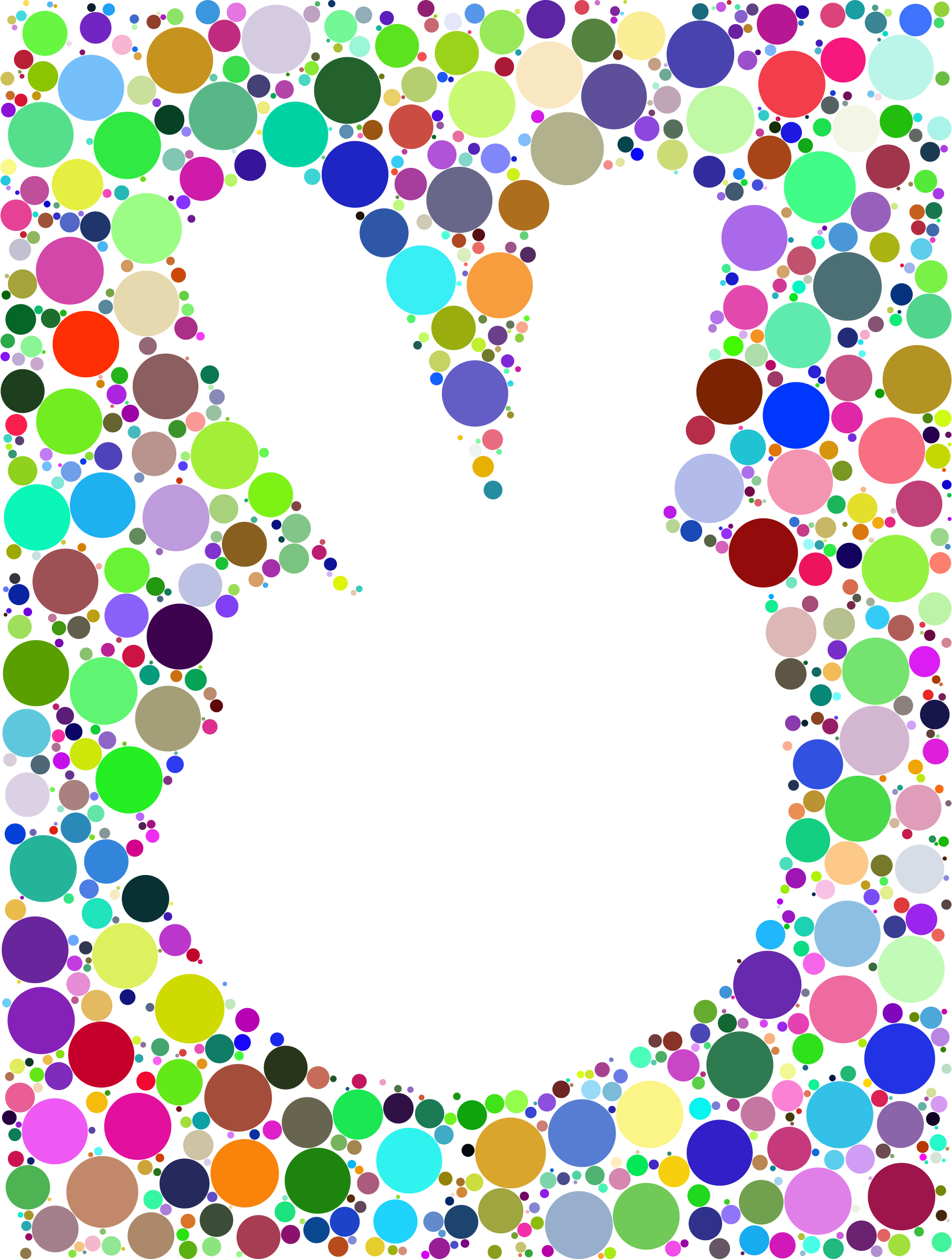 Prismatic Negative Space Comic Peace Hand Circles No Background by GDJ