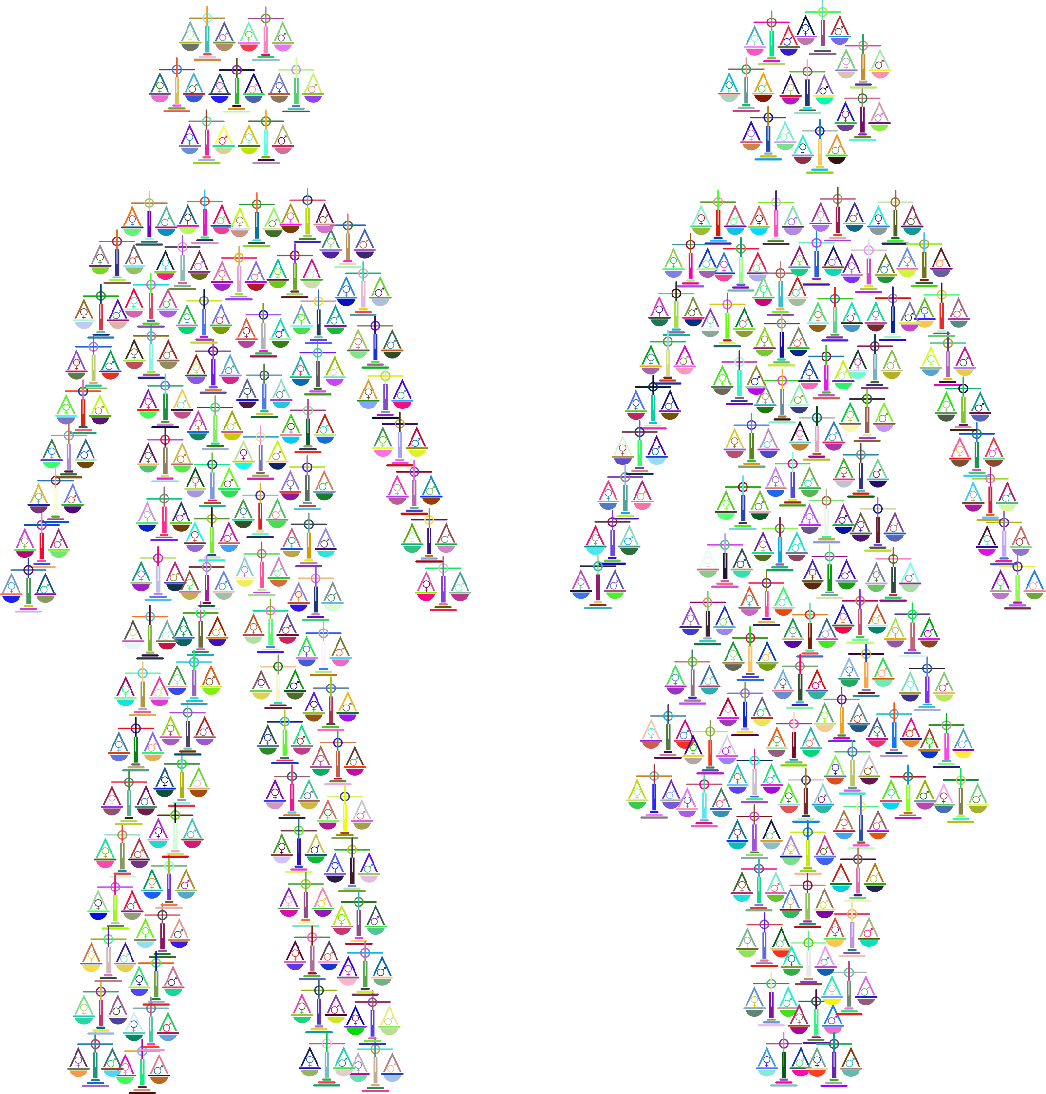 Prismatic Gender Equality Male And Female Figures 2 No Background by GDJ