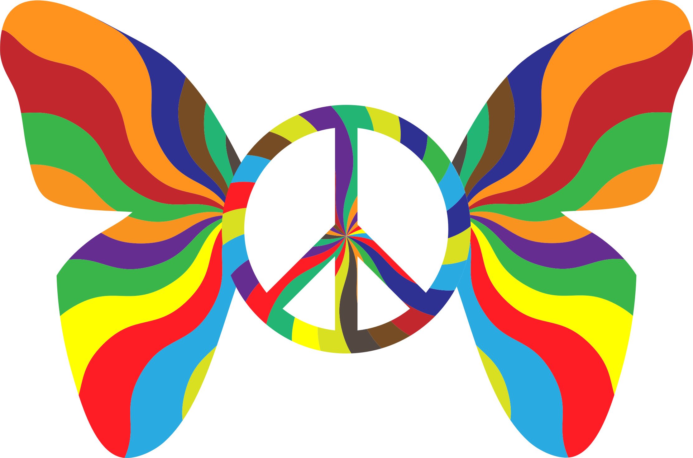 Groovy Peace Sign Butterfly 3 by GDJ