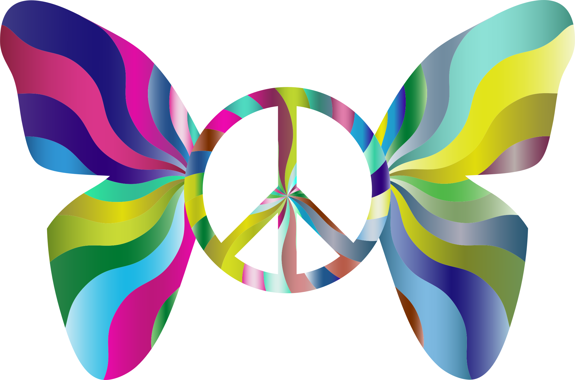 Groovy Peace Sign Butterfly 4 by GDJ