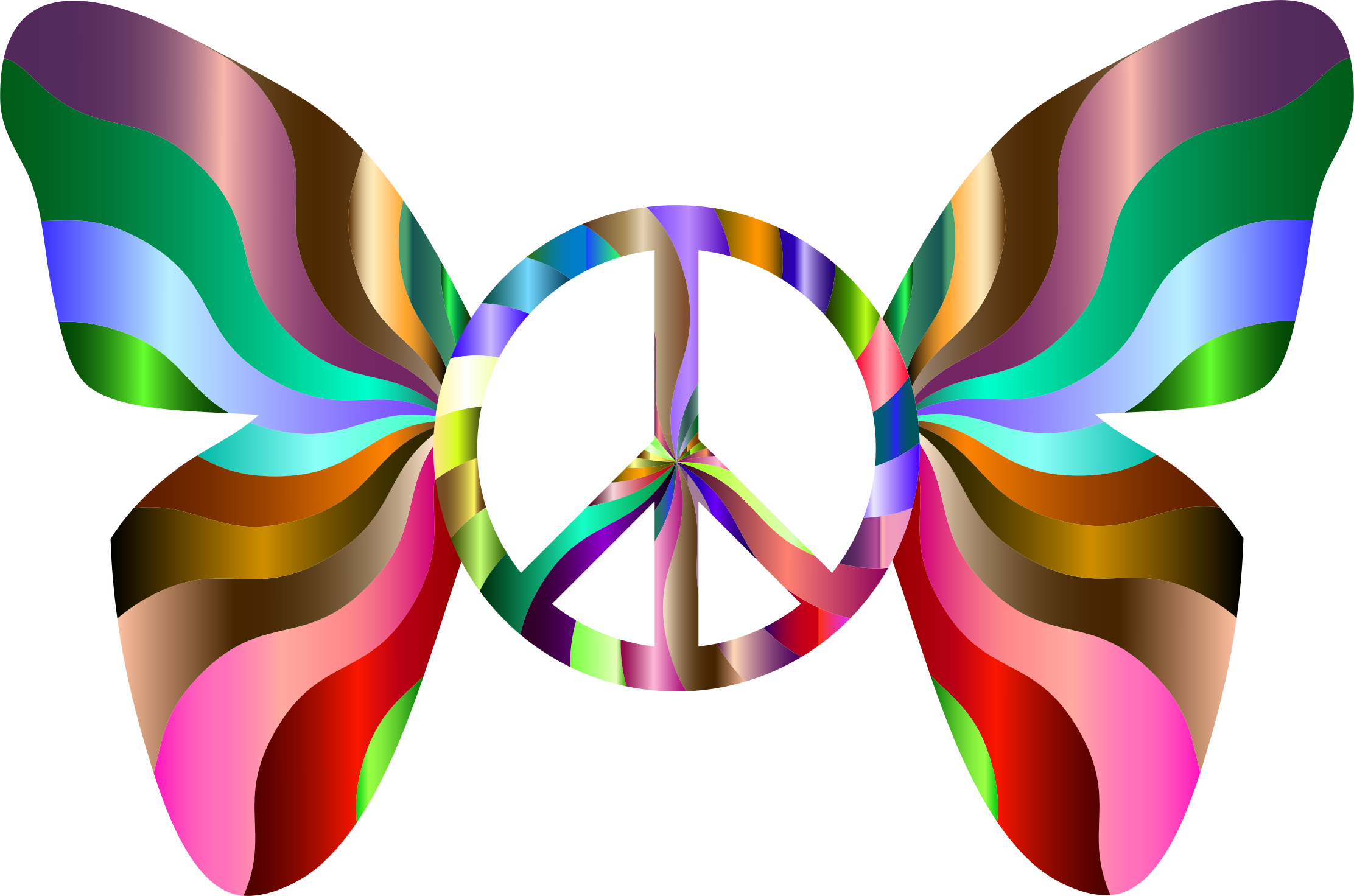 Groovy Peace Sign Butterfly 8 by GDJ