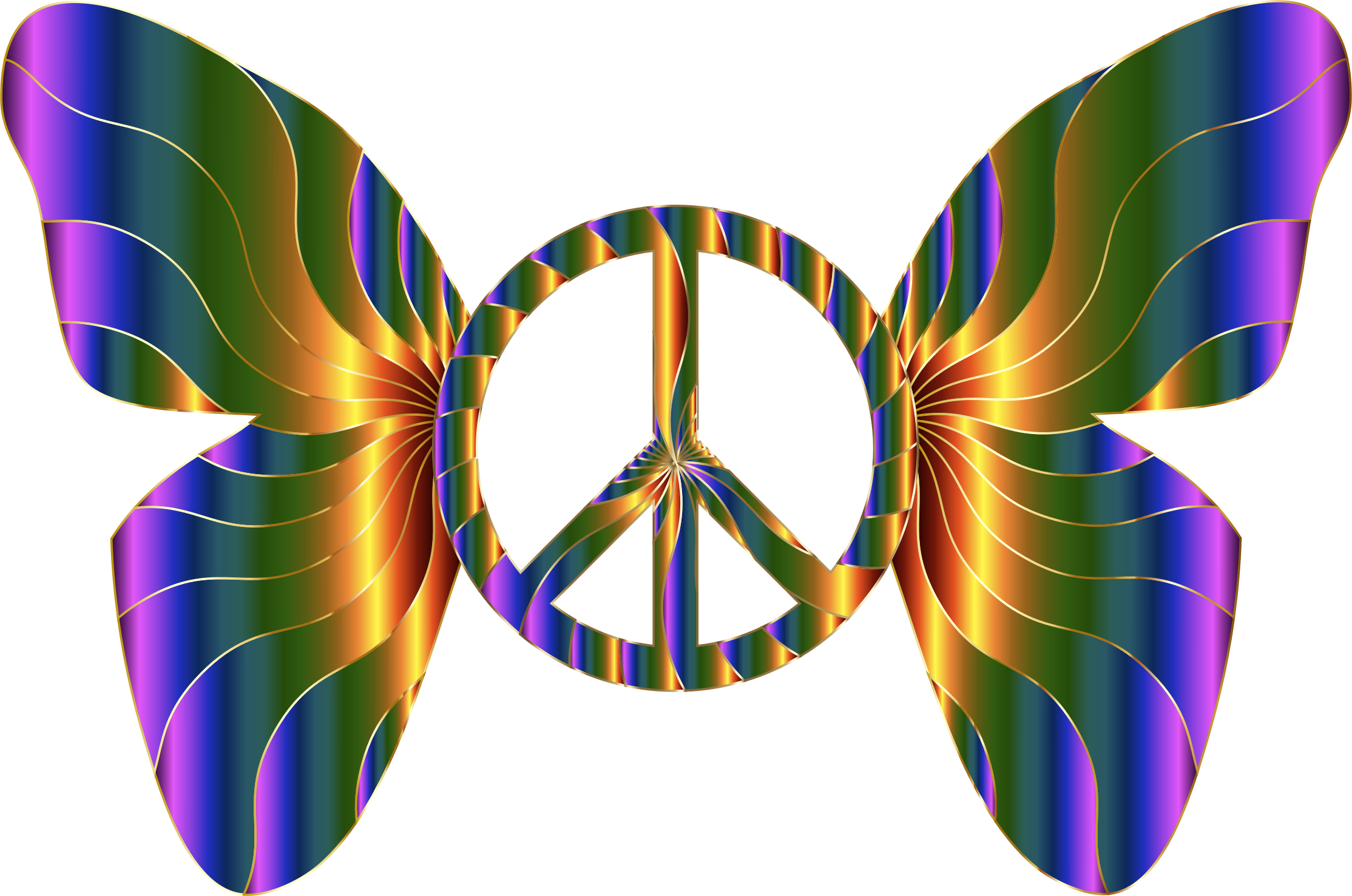 Groovy Peace Sign Butterfly 11 by GDJ