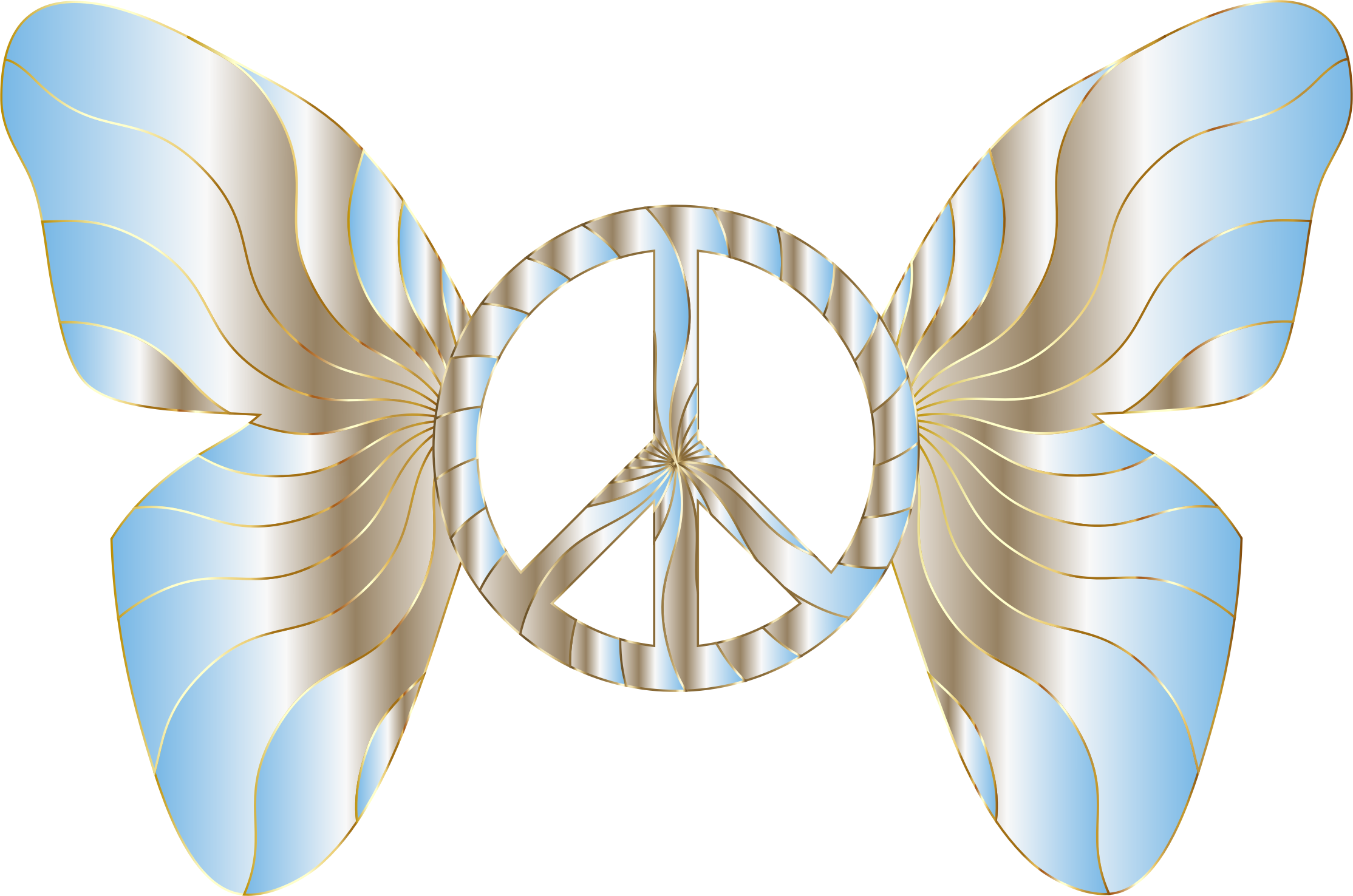 Groovy Peace Sign Butterfly 12 by GDJ