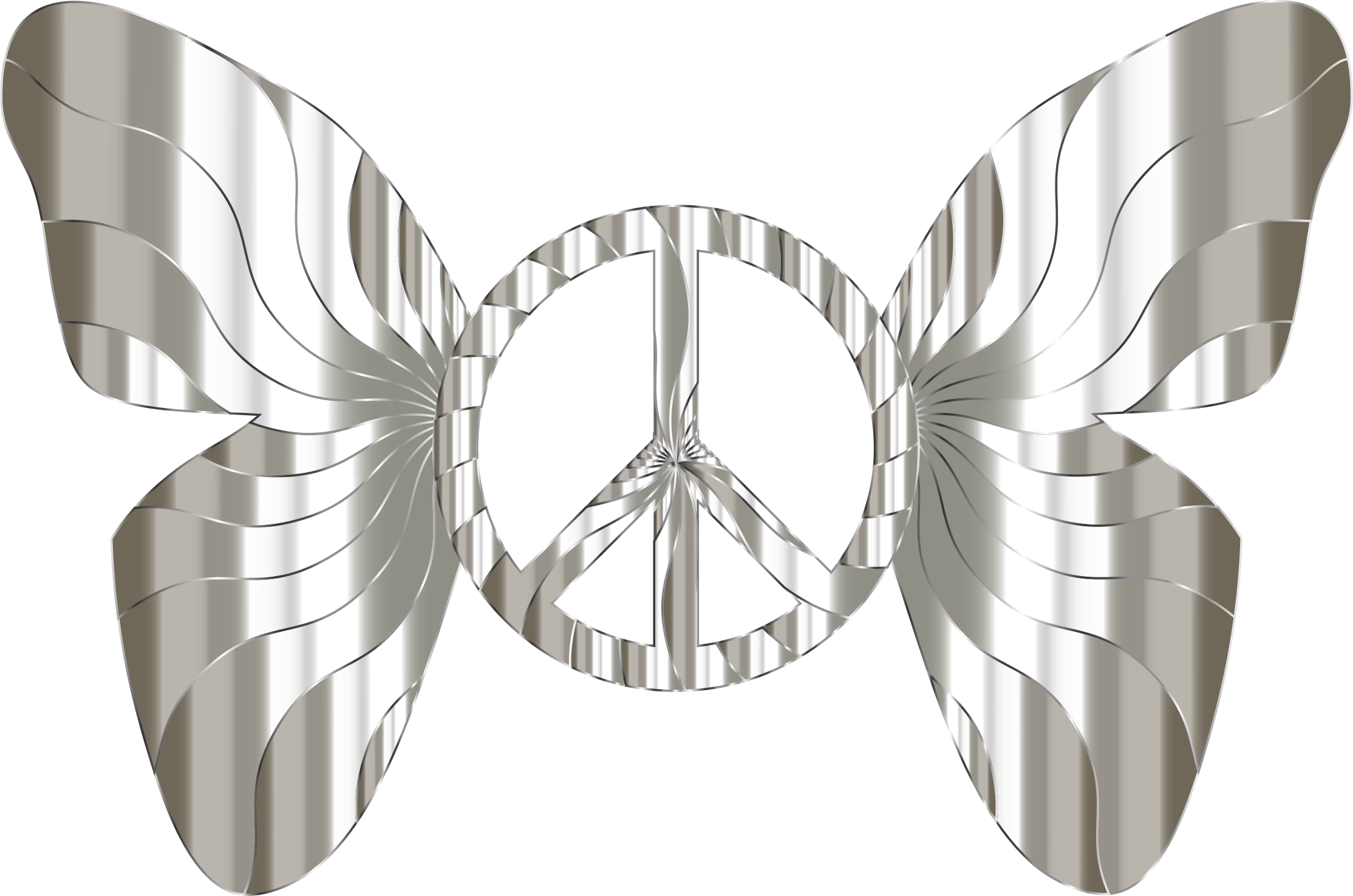 Groovy Peace Sign Butterfly 13 by GDJ