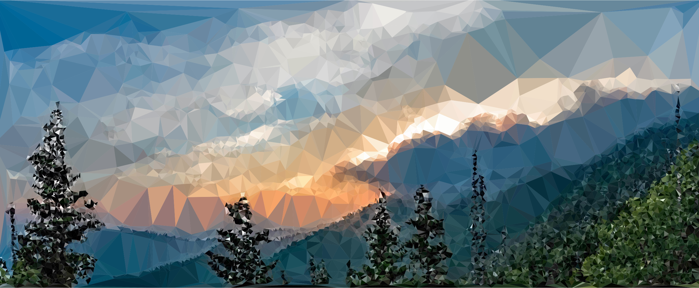 Low Poly Misty Mountains by GDJ
