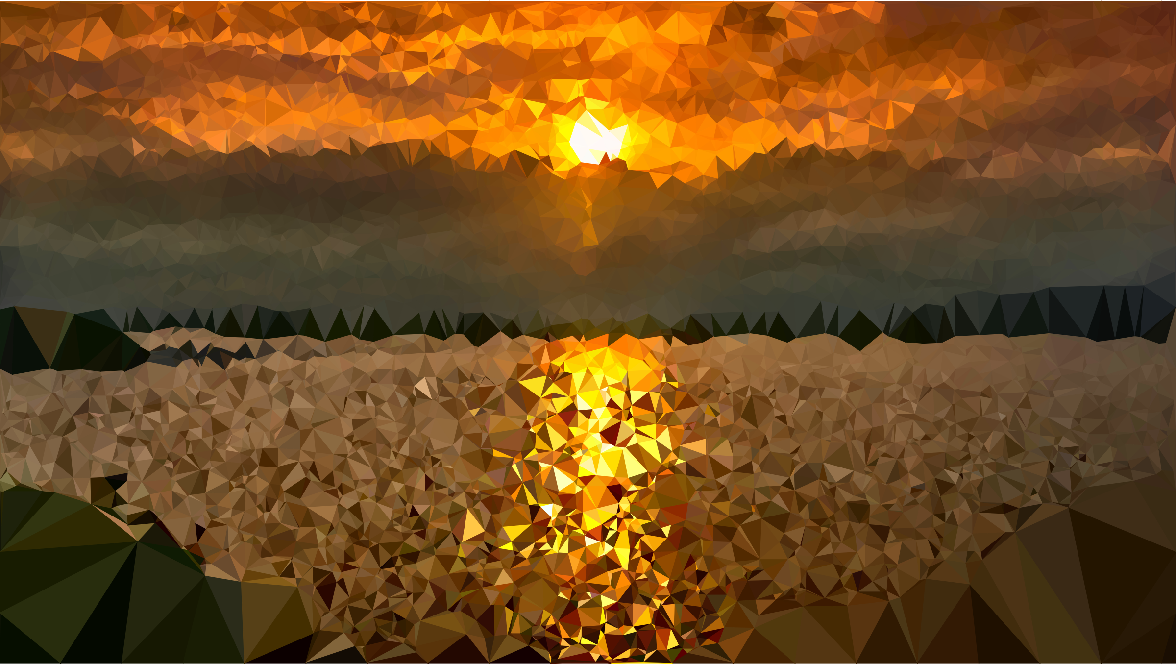 Low Poly Lake Sunset by GDJ