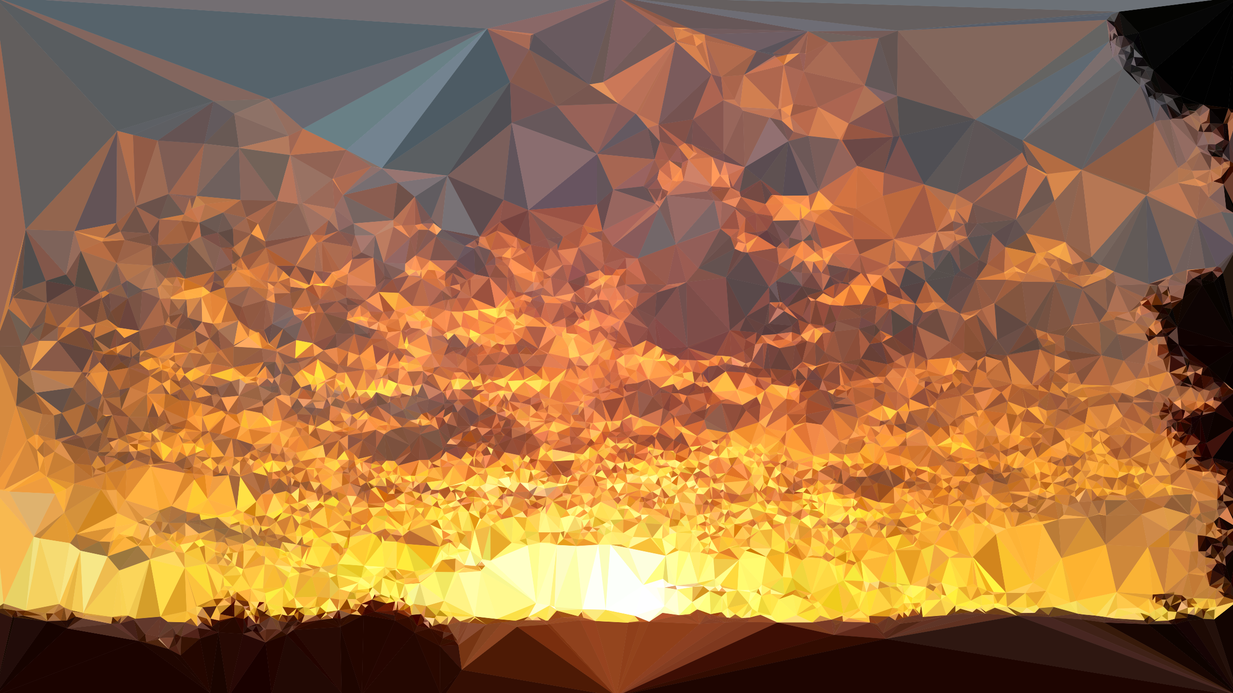 Low Poly California Sunset by GDJ