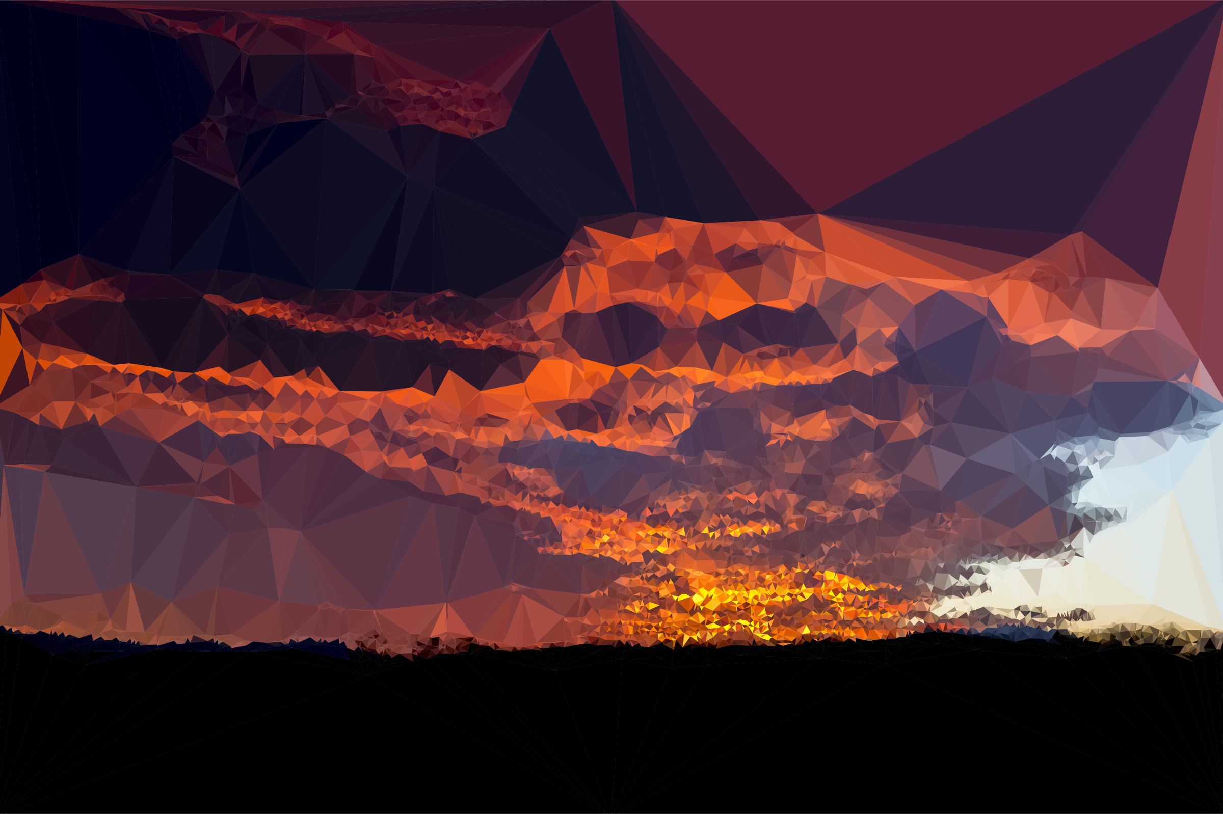 Low Poly Burnt Caramel Sunset by GDJ