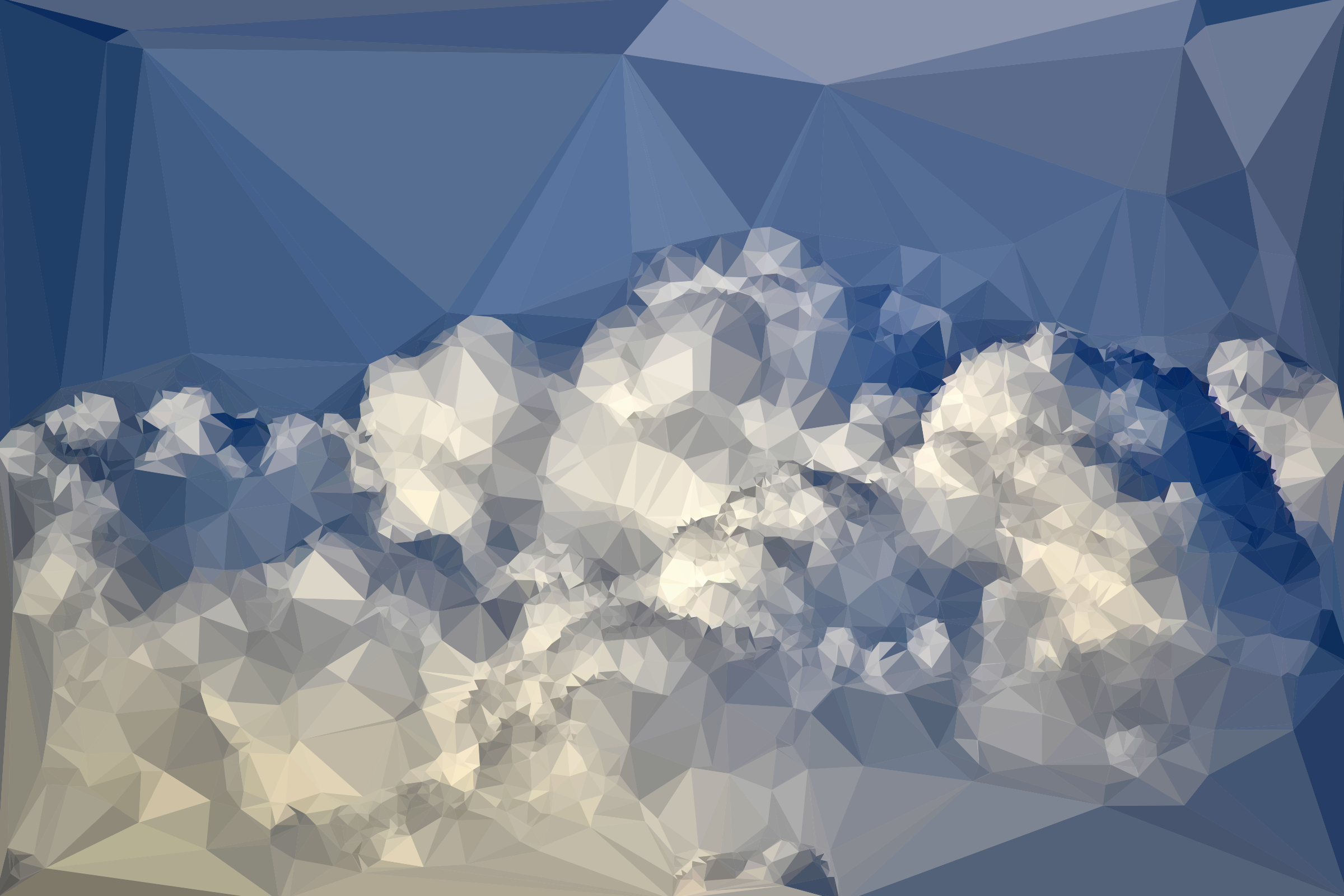 Low Poly Blue Sky 6 by GDJ