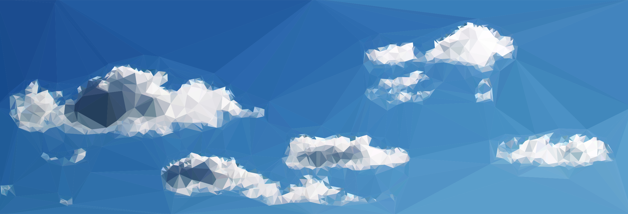 Clipart - Low Poly Blue Sky 8