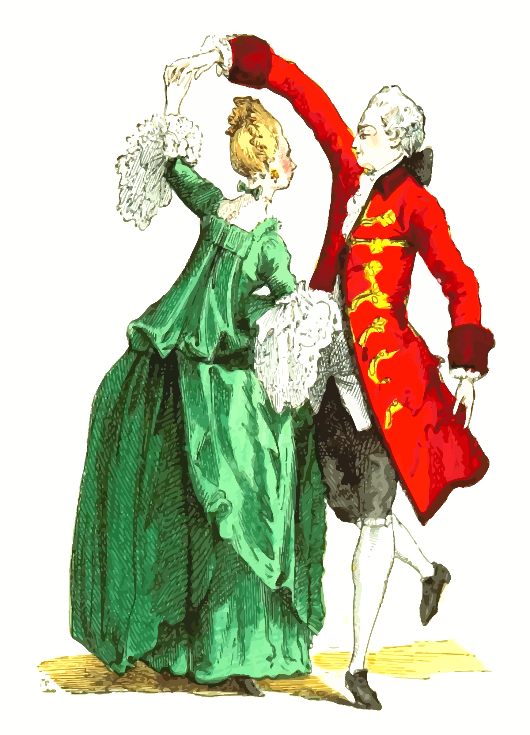 18th century French ballroom costumes by Firkin