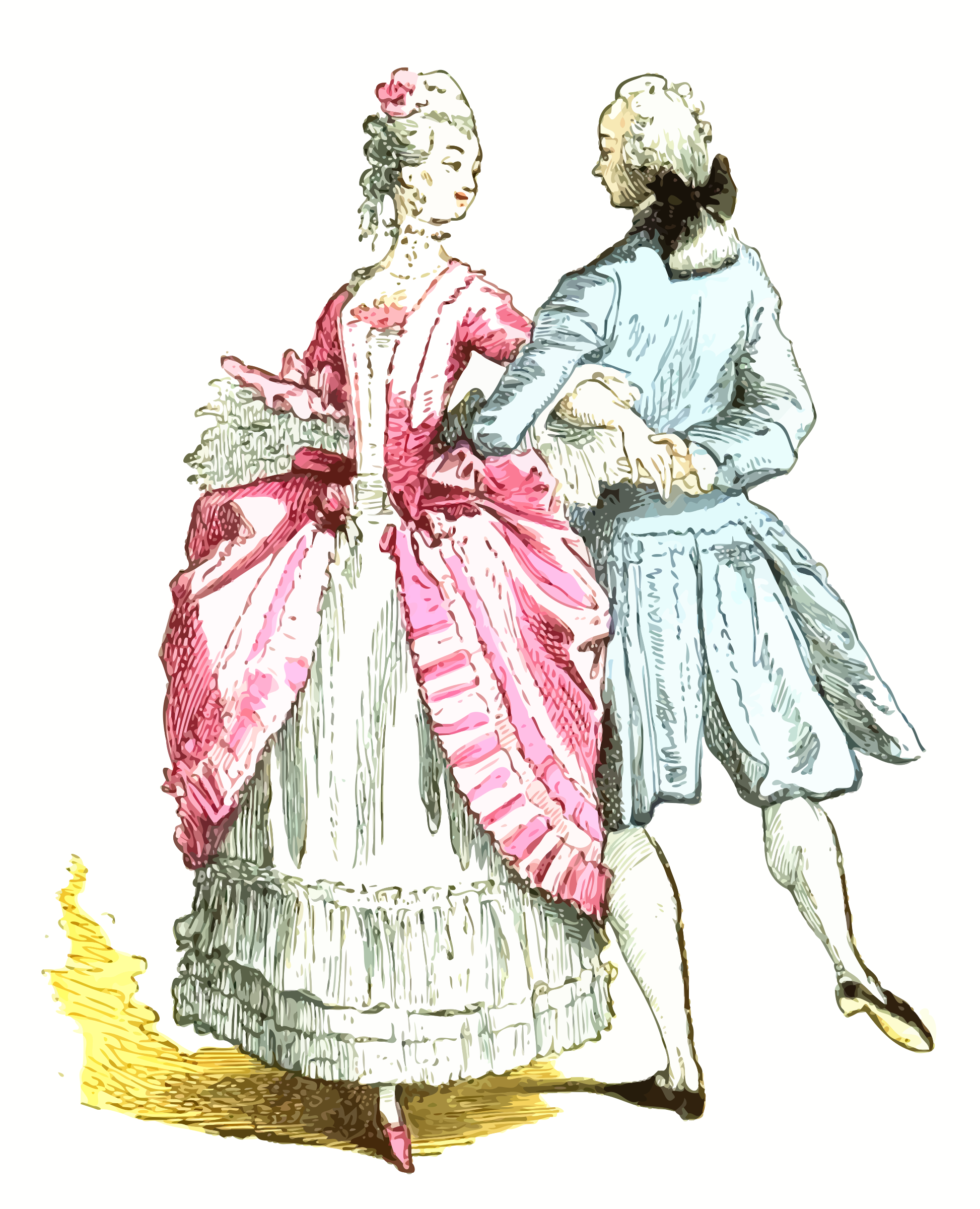 18th century French ballroom costumes 2 by Firkin