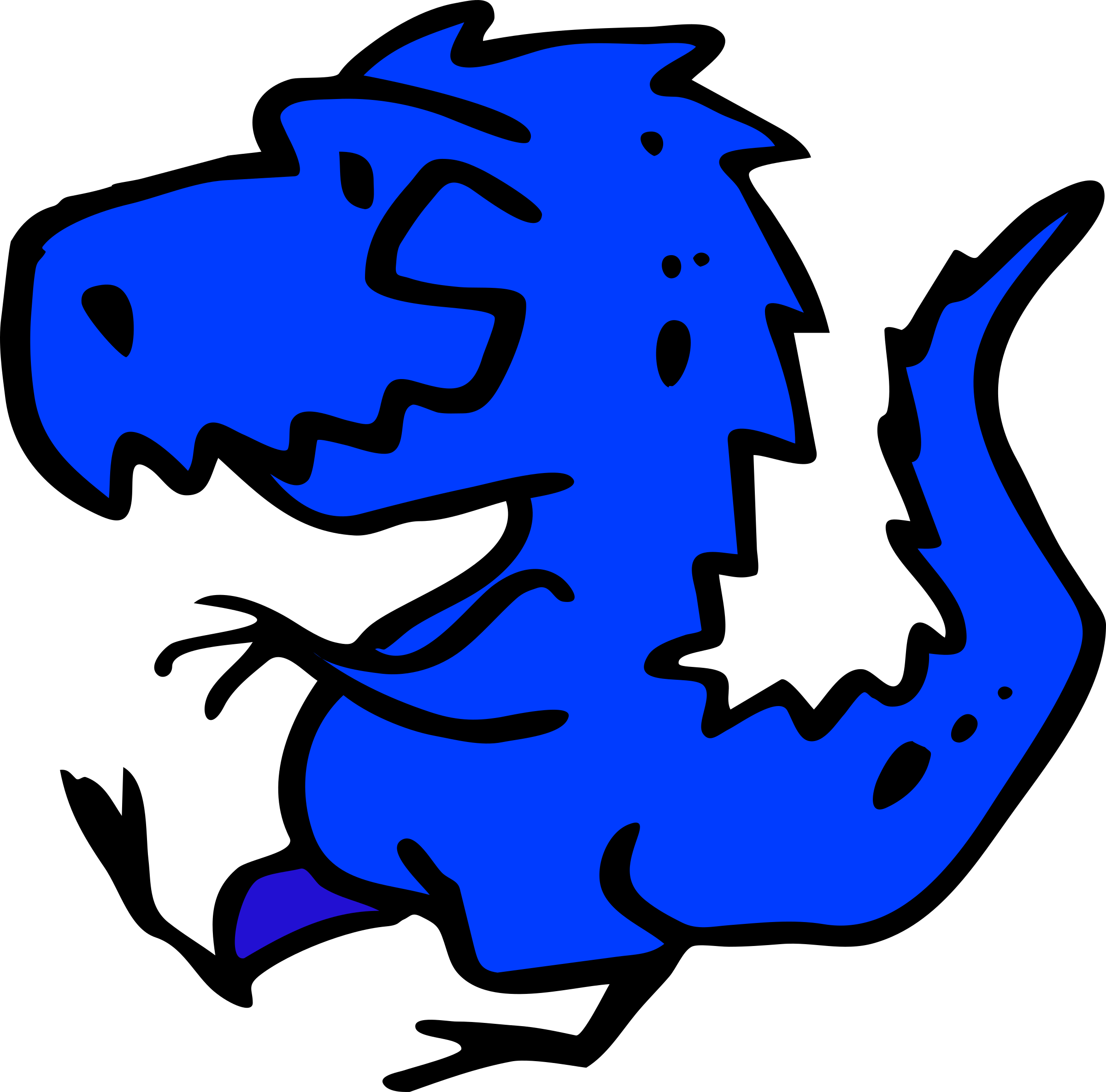 Blue Dinosaur by francesco_rollandin