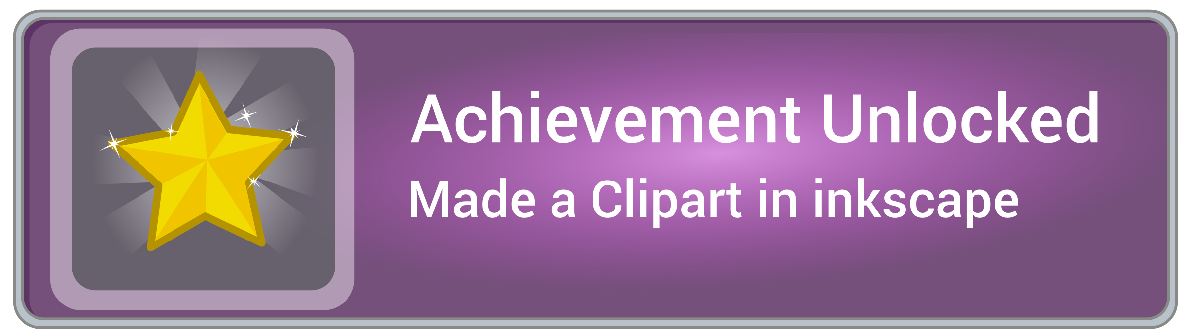 Achievement unlocked icon game with frame by monsterbraingames
