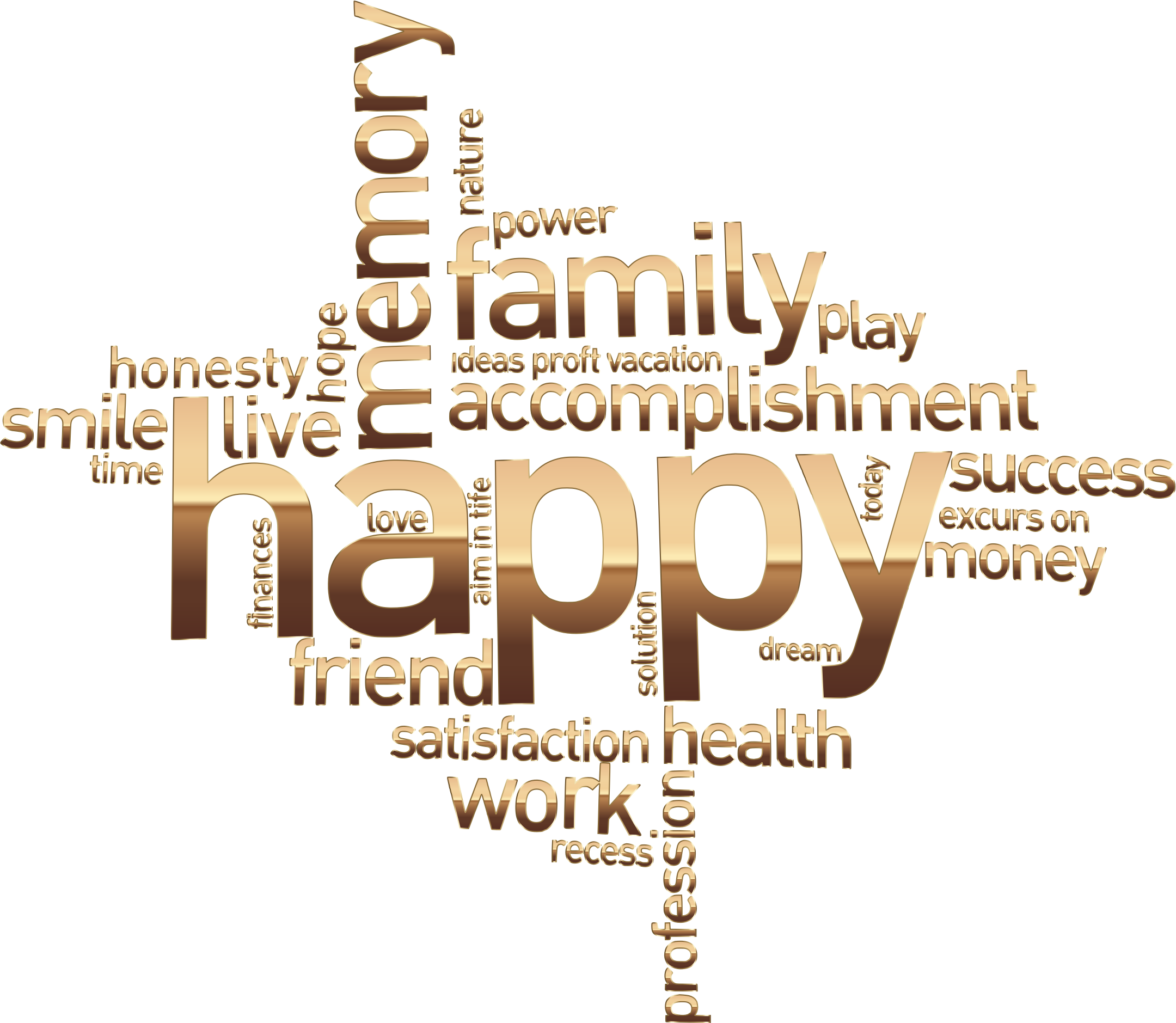 Happy Family Word Cloud No Background by GDJ