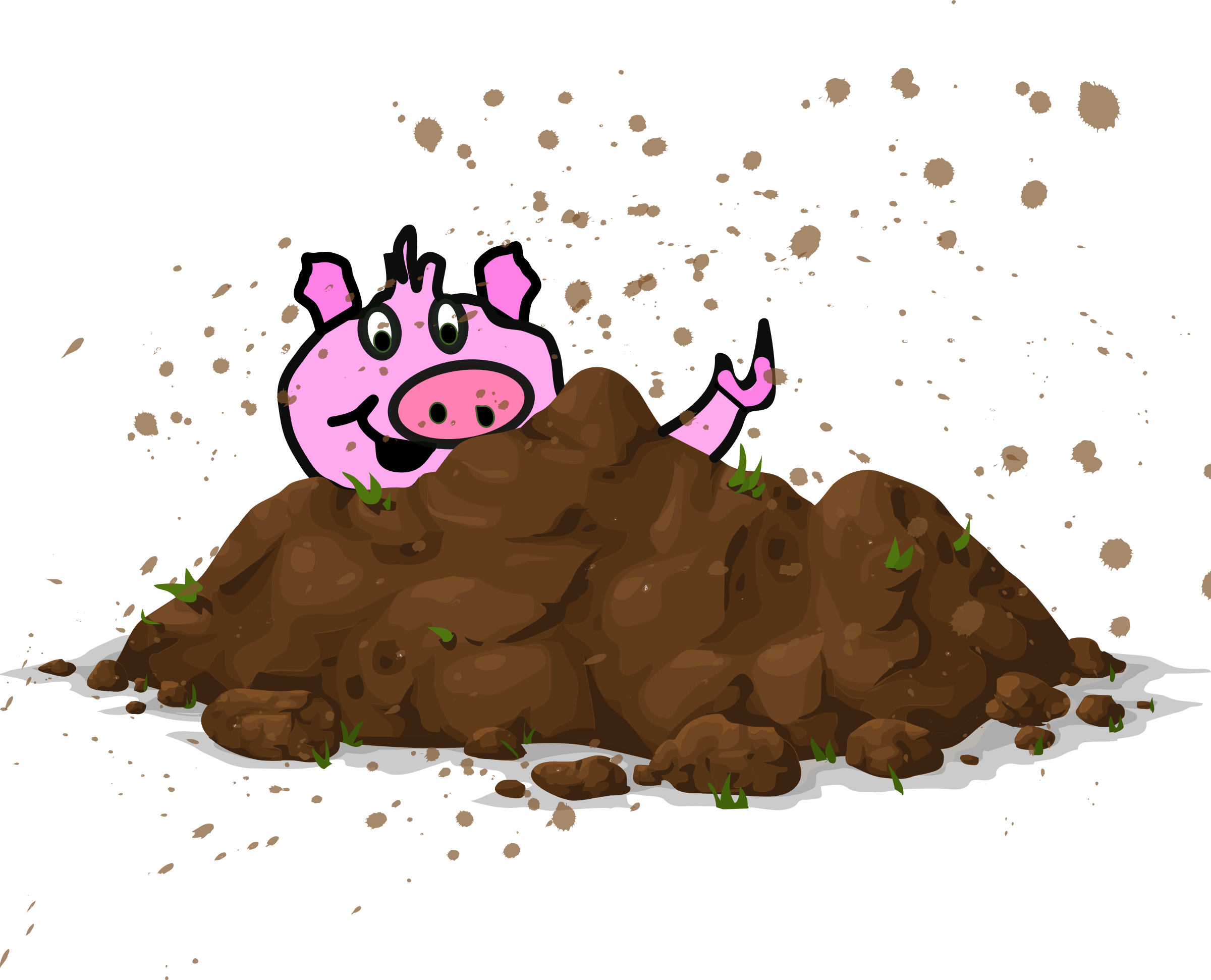 Clipart - Pig Sty