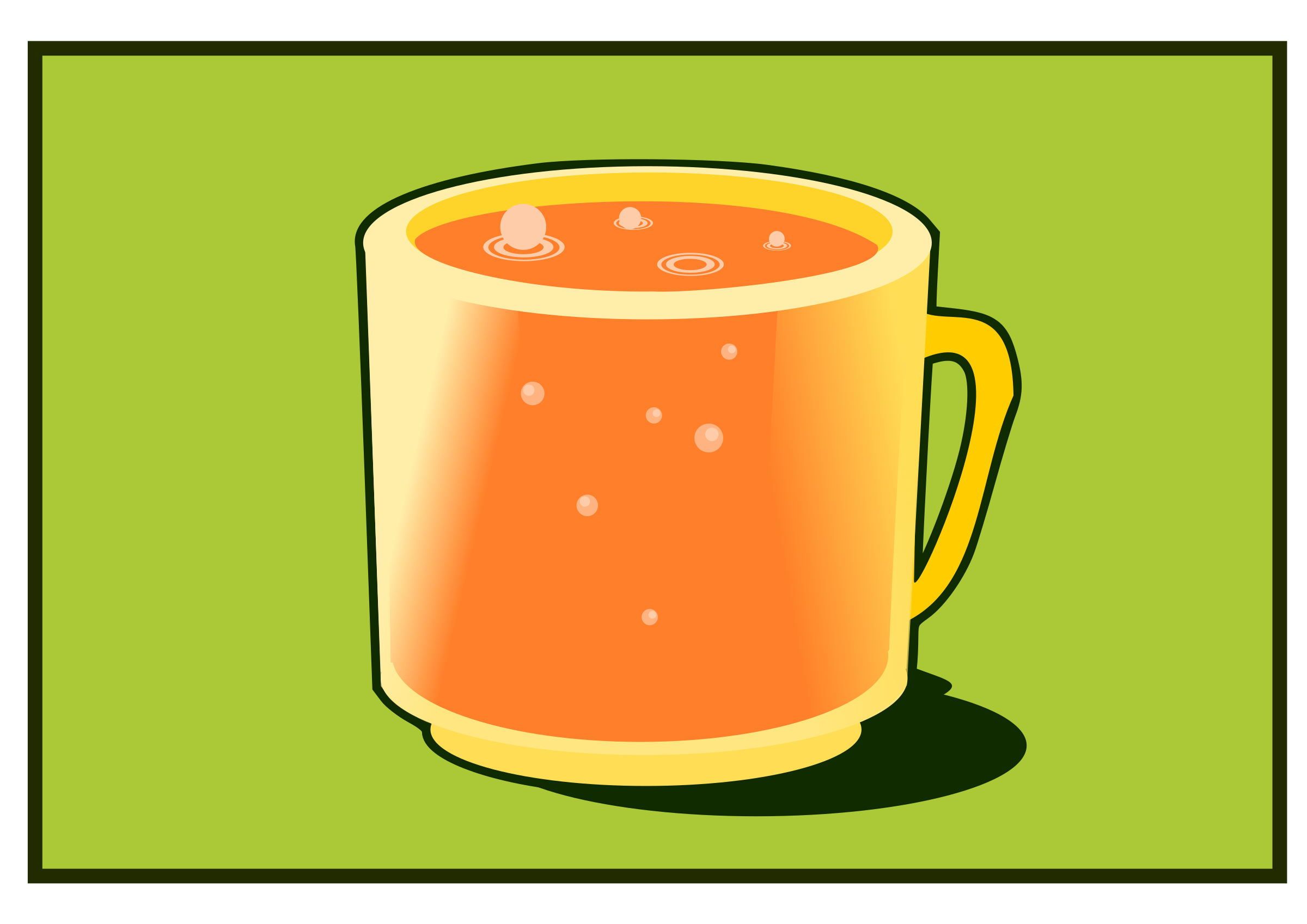 Orange cup by kolbasun