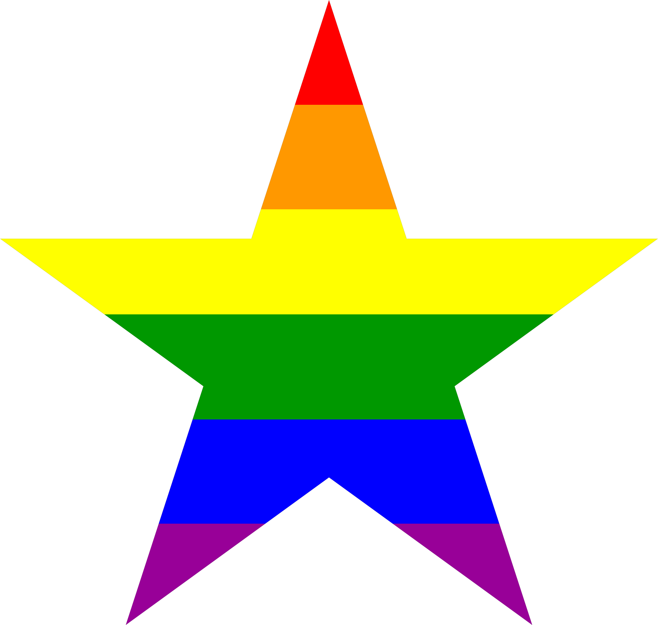 Classical Rainbow Five-Point Star by AdamStanislav