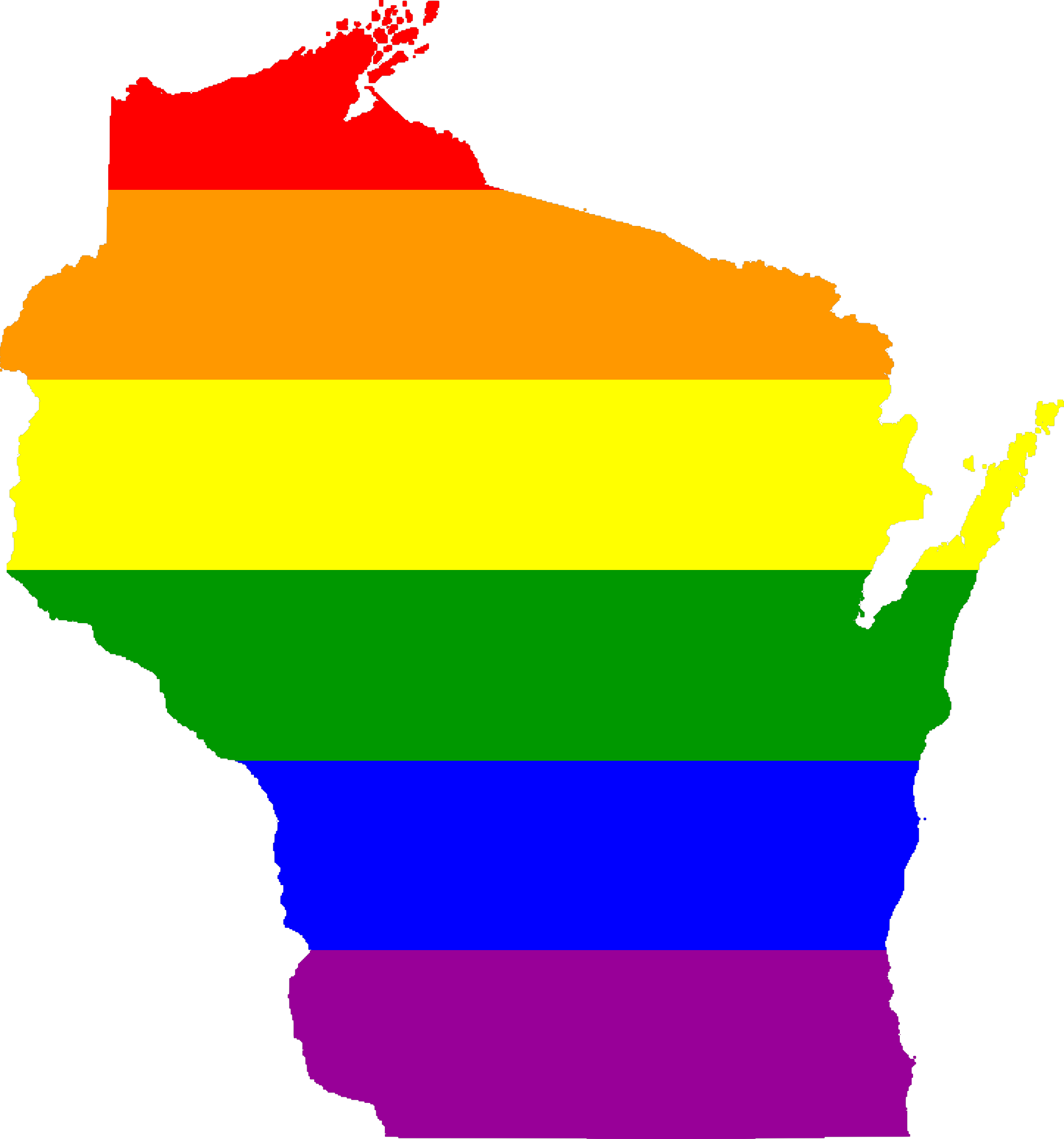 The Rainbow State of Wisconsin by AdamStanislav