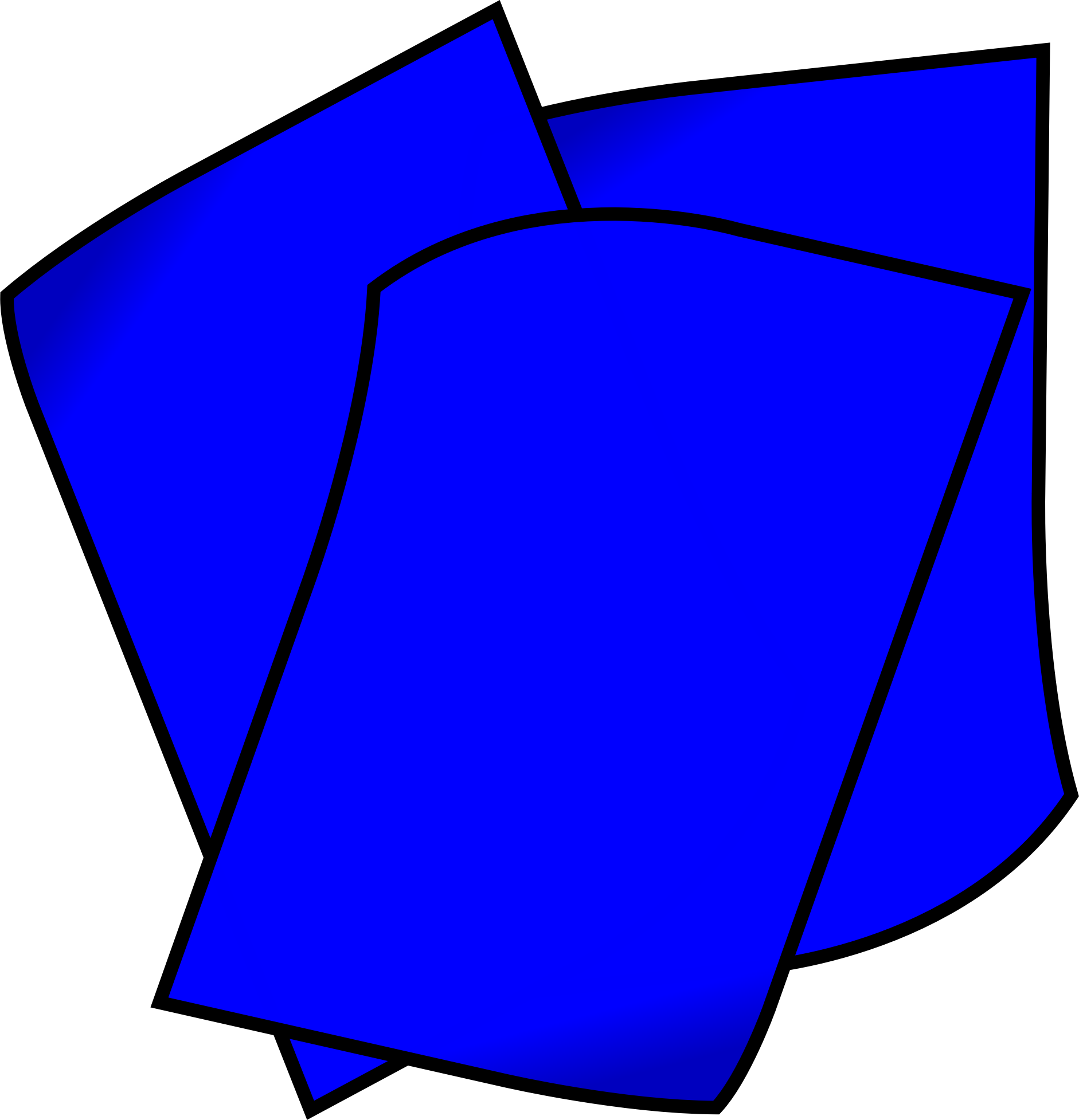clipart - stack of blue paper