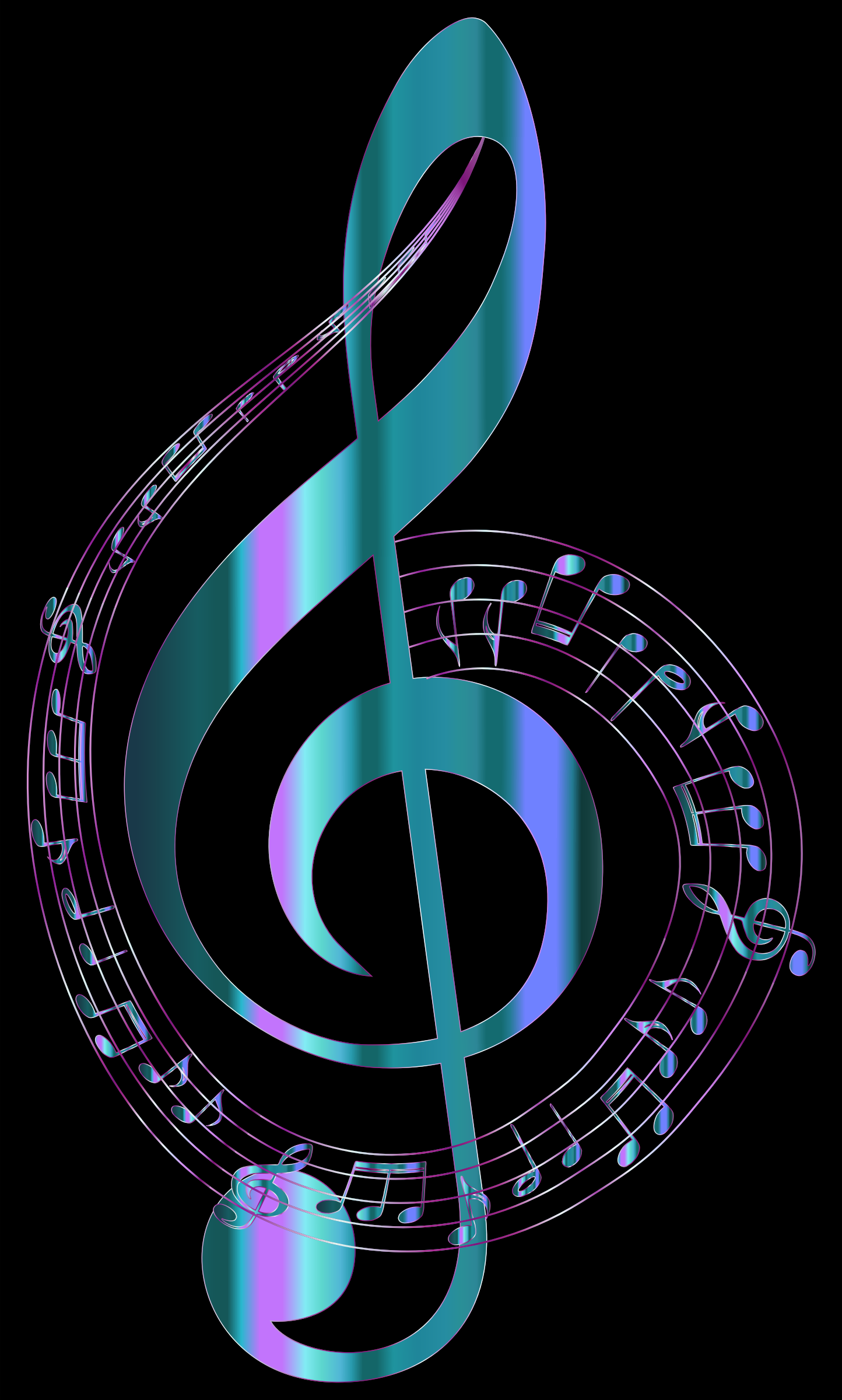 Turquoise Musical Notes Typography by GDJ
