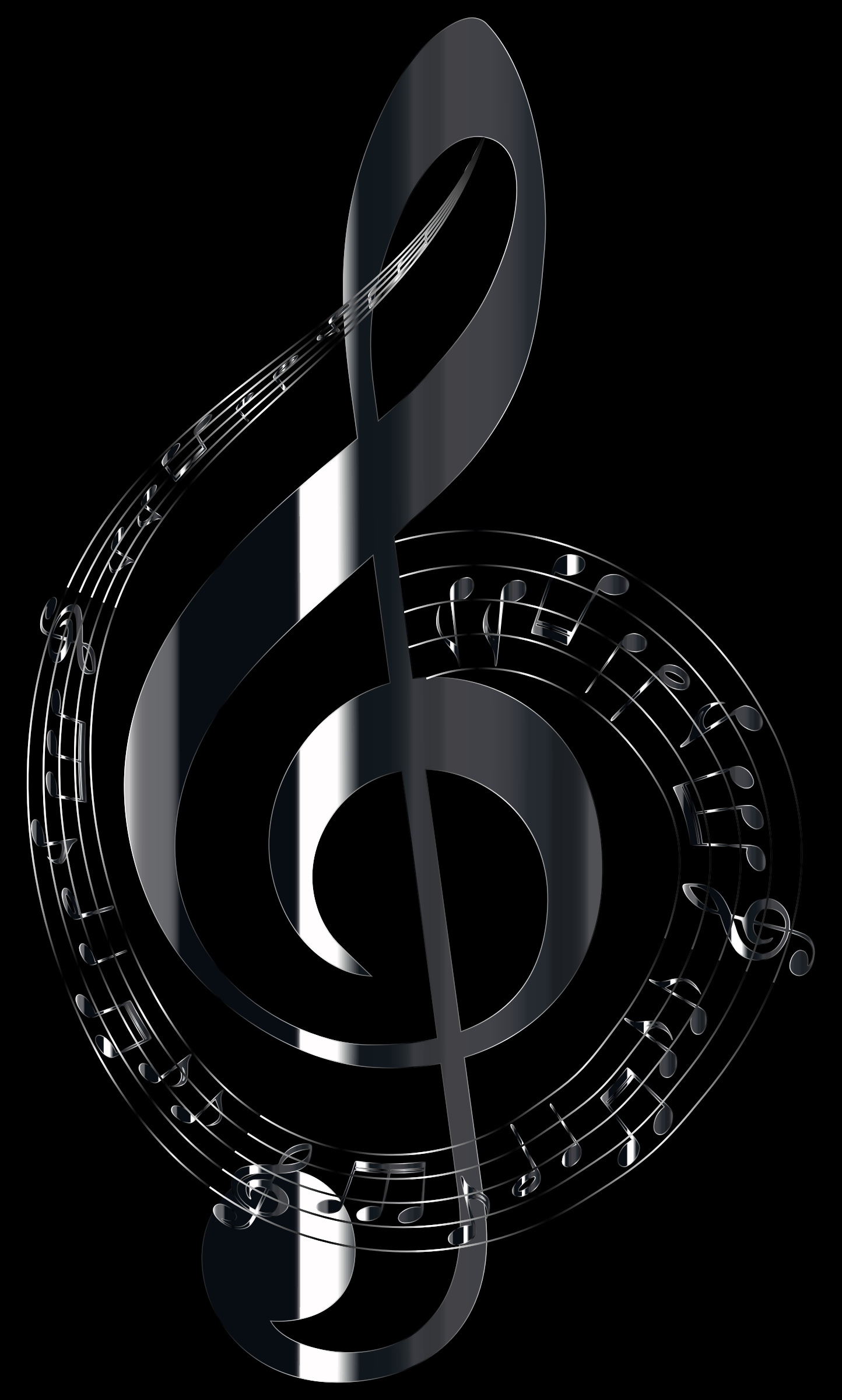 Polished Onyx Musical Notes Typography by GDJ
