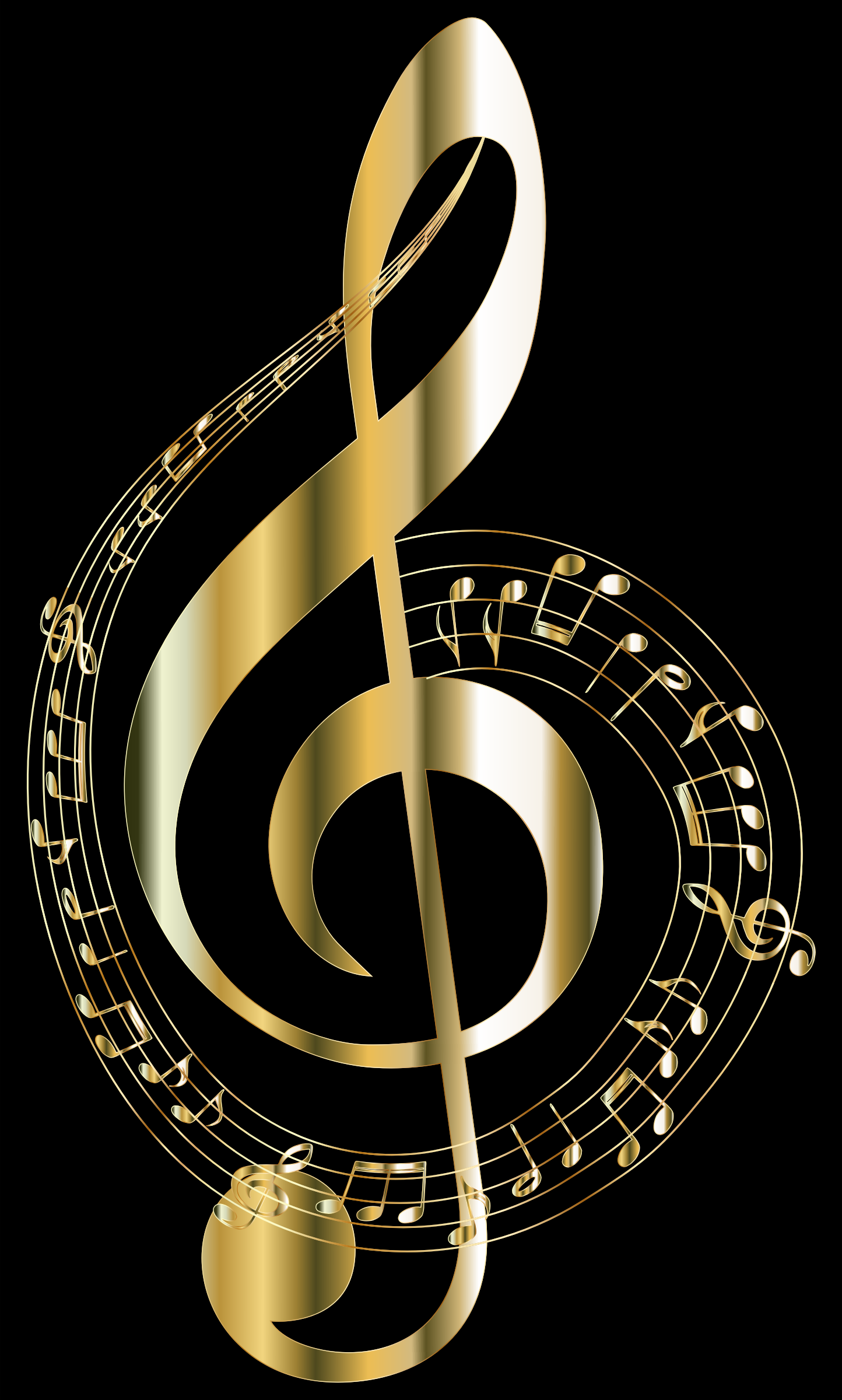 Gold Musical Notes Typography 2 by GDJ