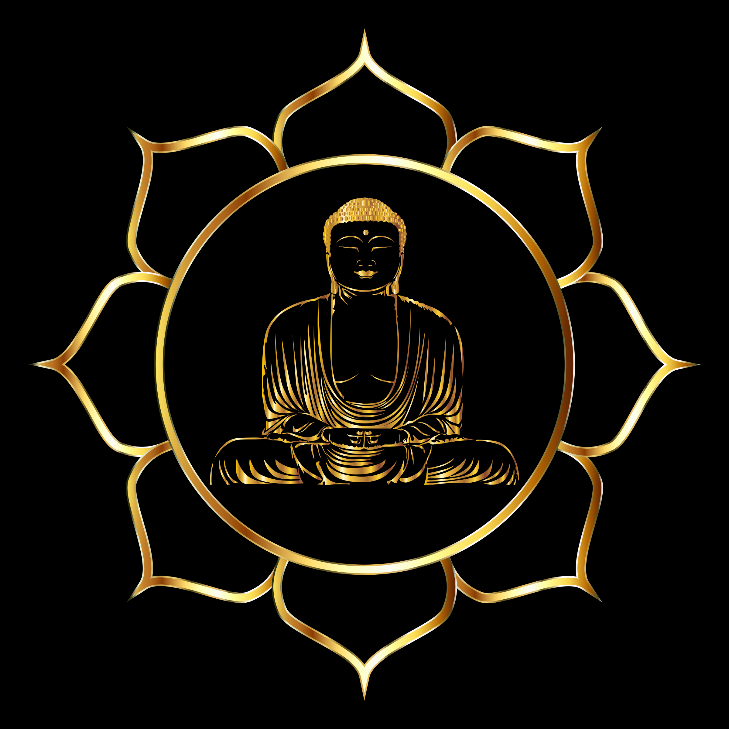 Gold Buddha Lotus by GDJ