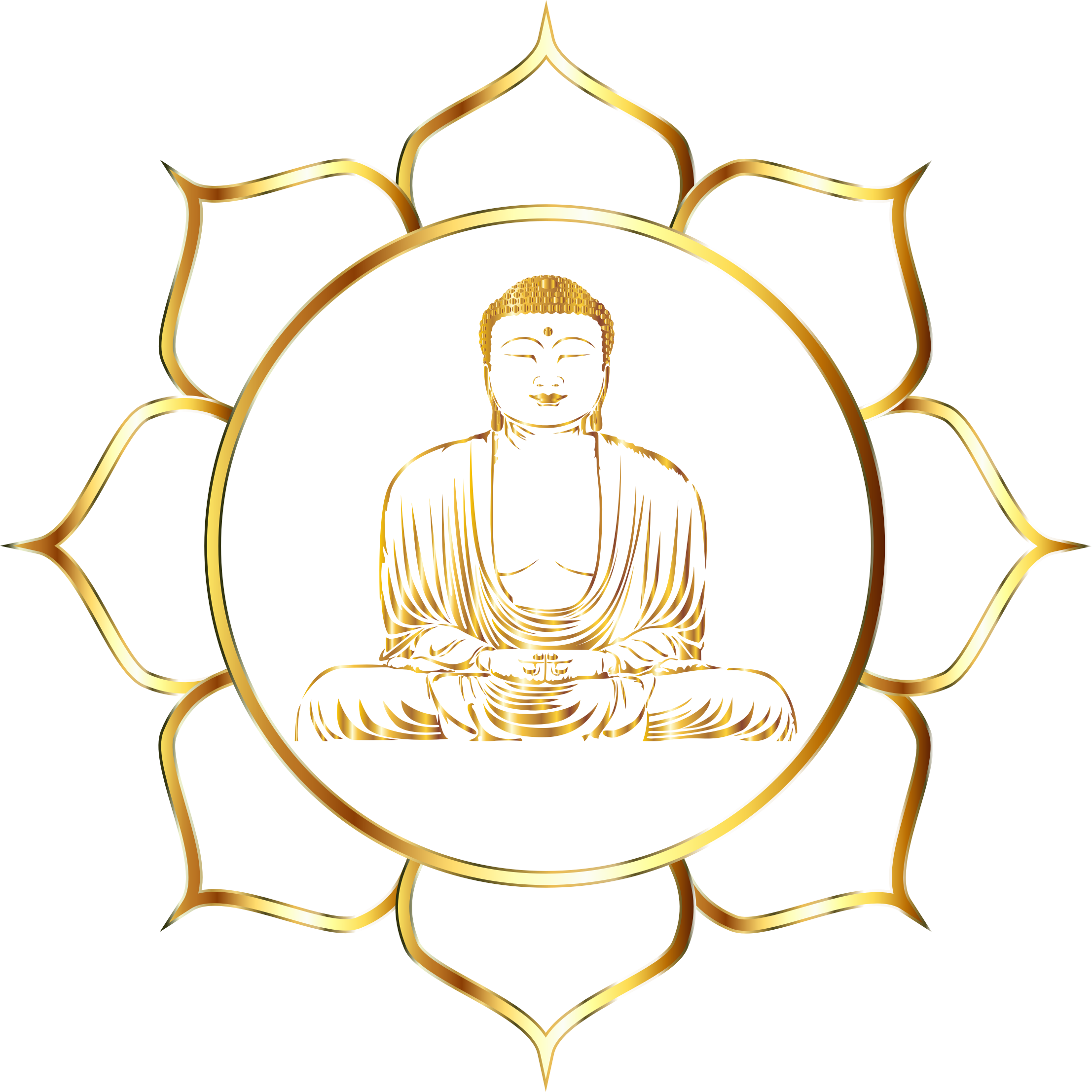 Clipart Gold Buddha Lotus No Background