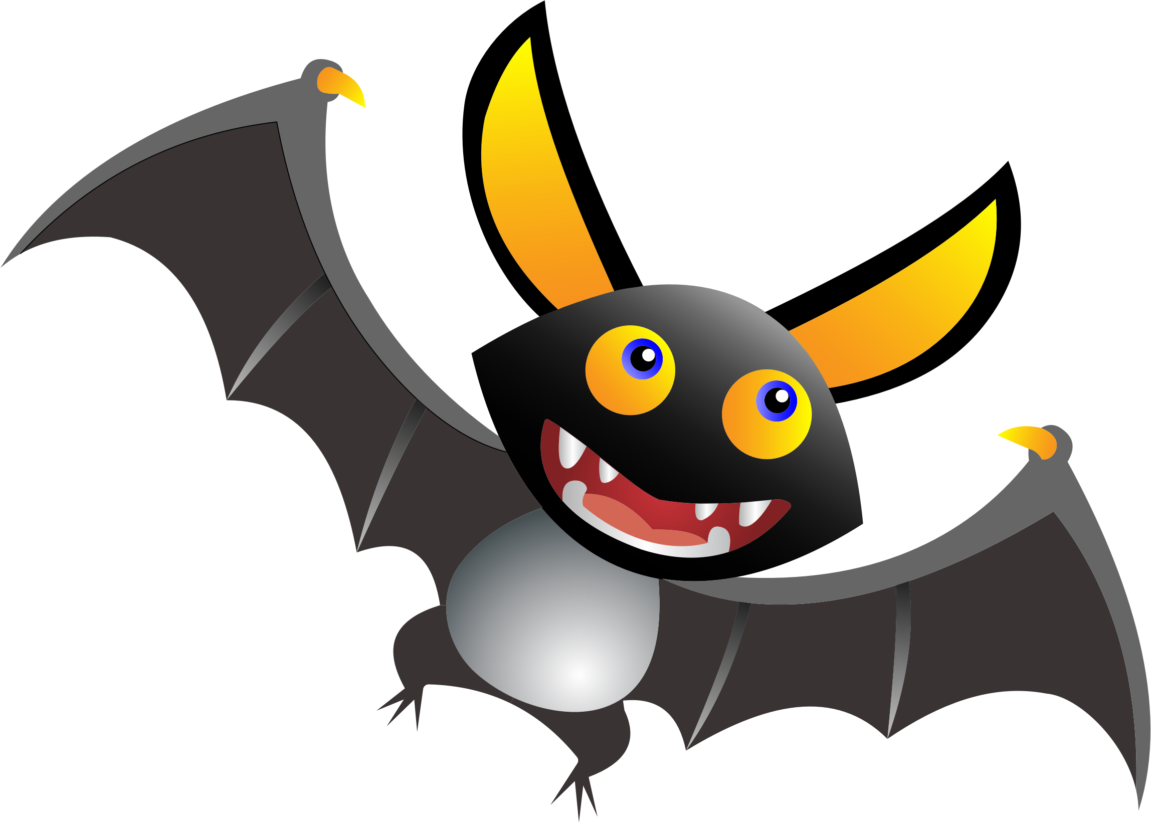 Cartoon BatClipArt Vektor Cartoon Bat  1000 Grafiken