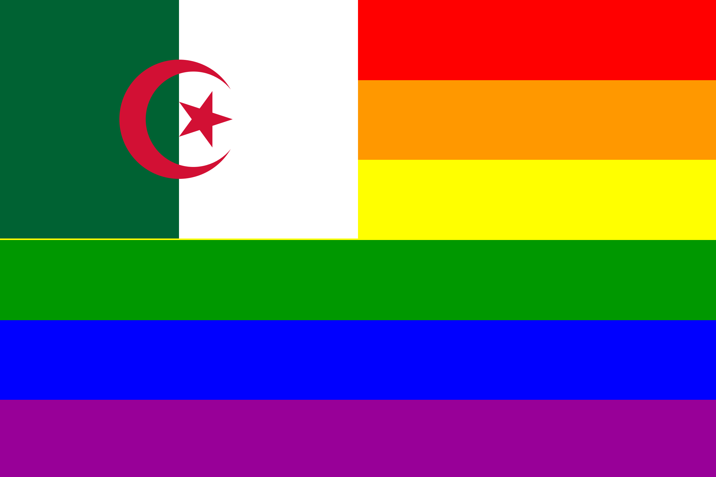 The Algeria Rainbow Flag by AdamStanislav