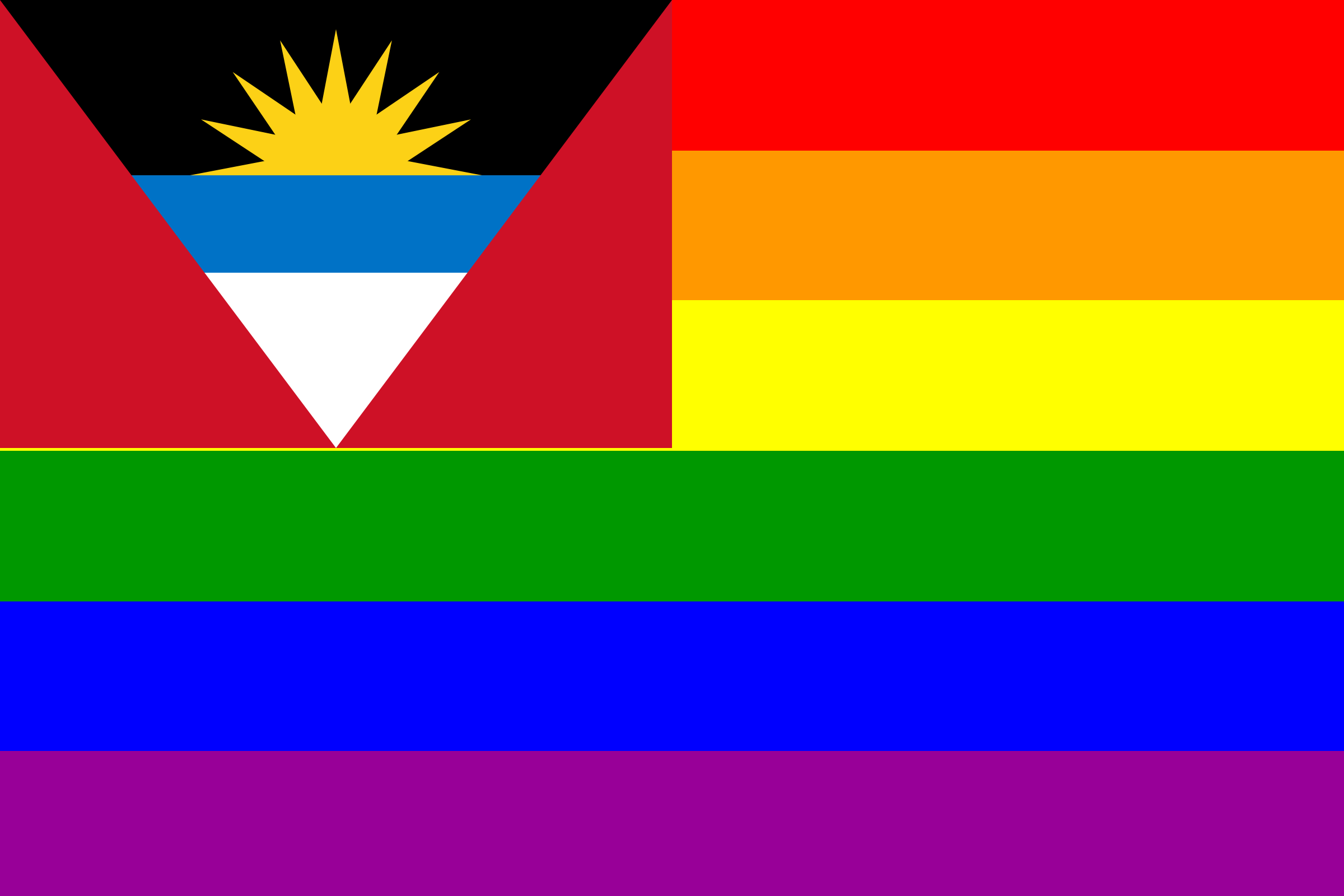The Antigua and Barbuda Rainbow Flag by AdamStanislav