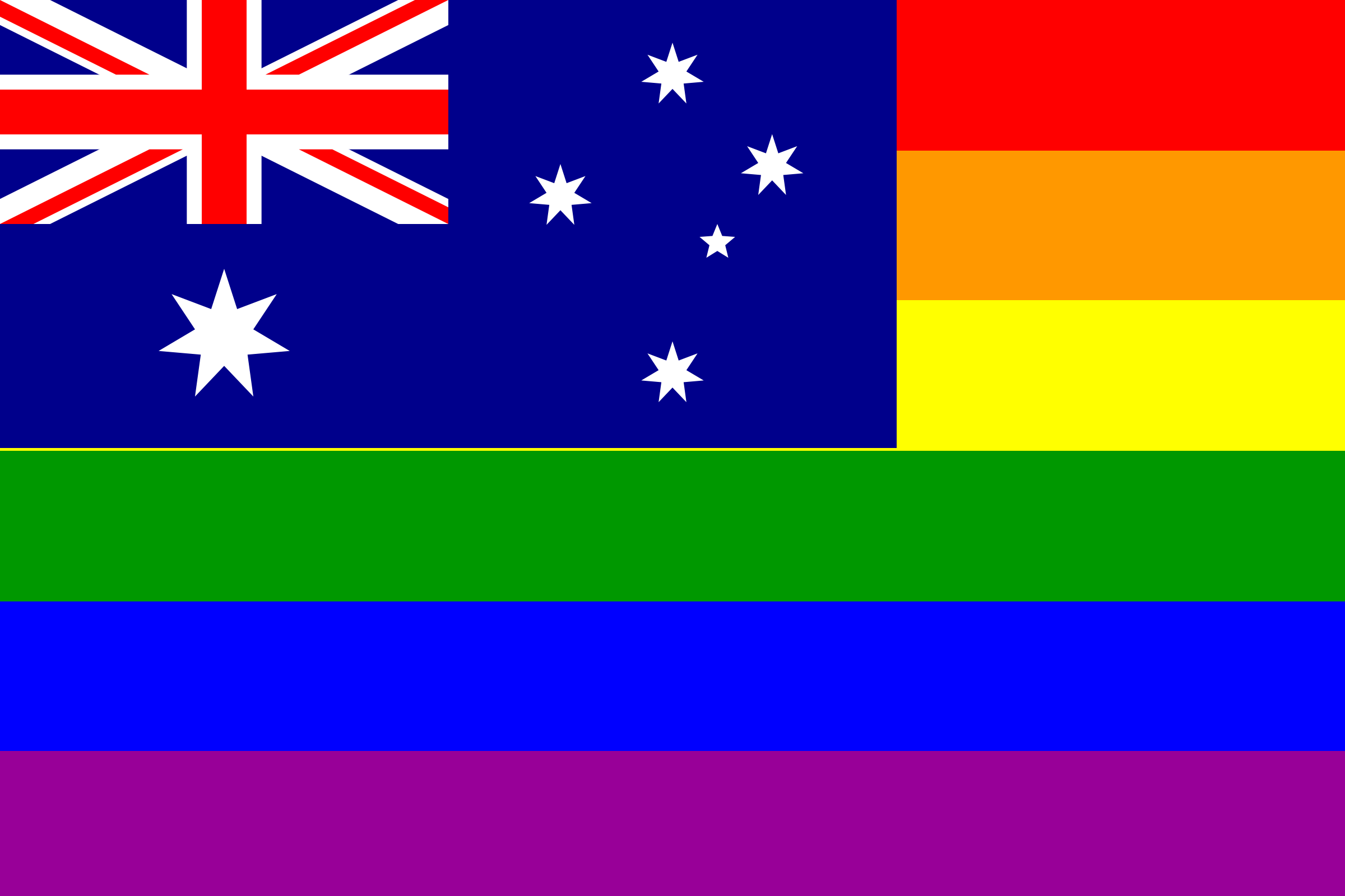 The Australia Rainbow Flag by AdamStanislav