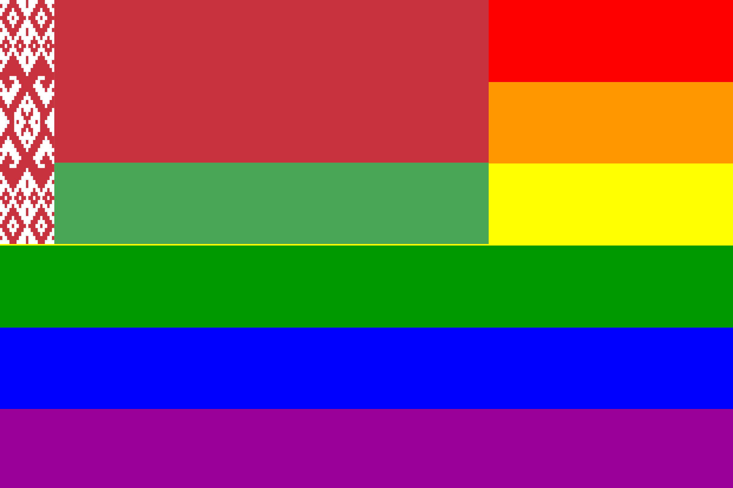 The Belarus Rainbow Flag by AdamStanislav